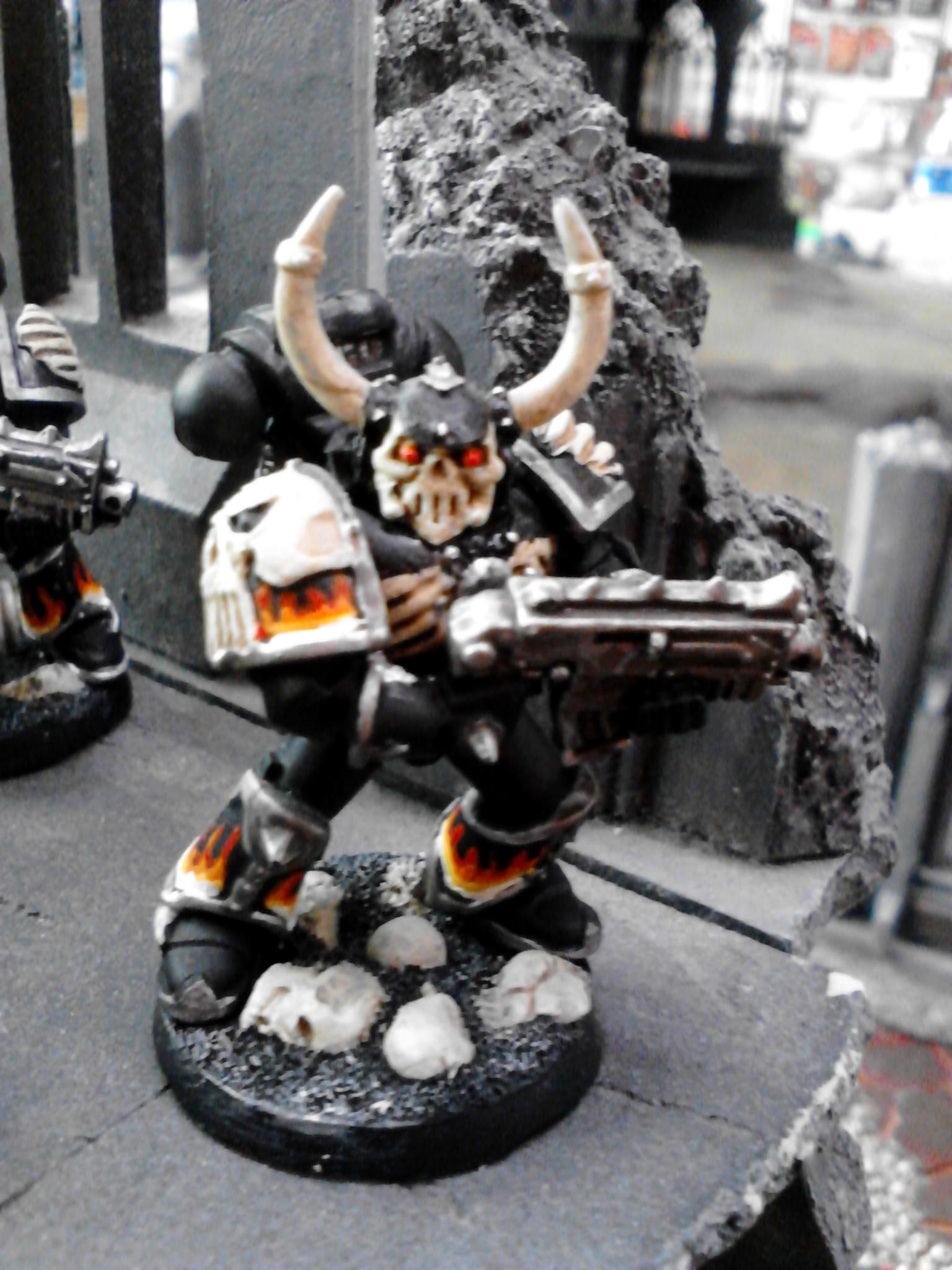 Bolter, Budget, Fire, Flames, Legion Of The Damned, Skull