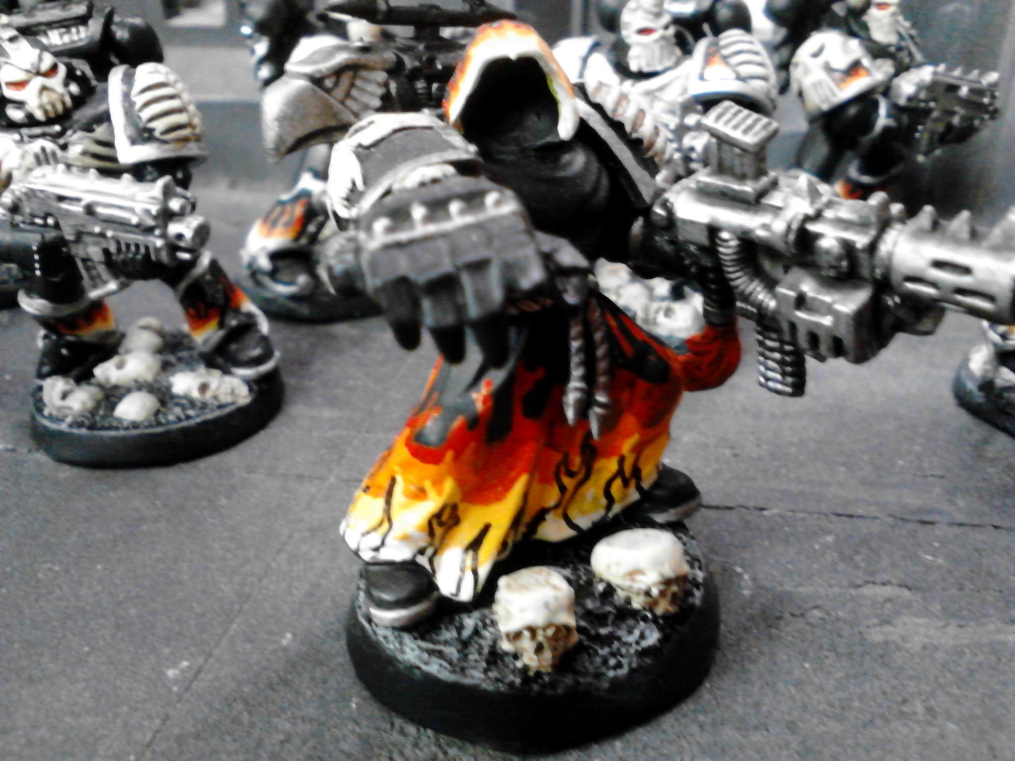 Budget, Combi Melta, Fire, Flames, Legion Of The Damned, Power Fist, Sergeant, Skull