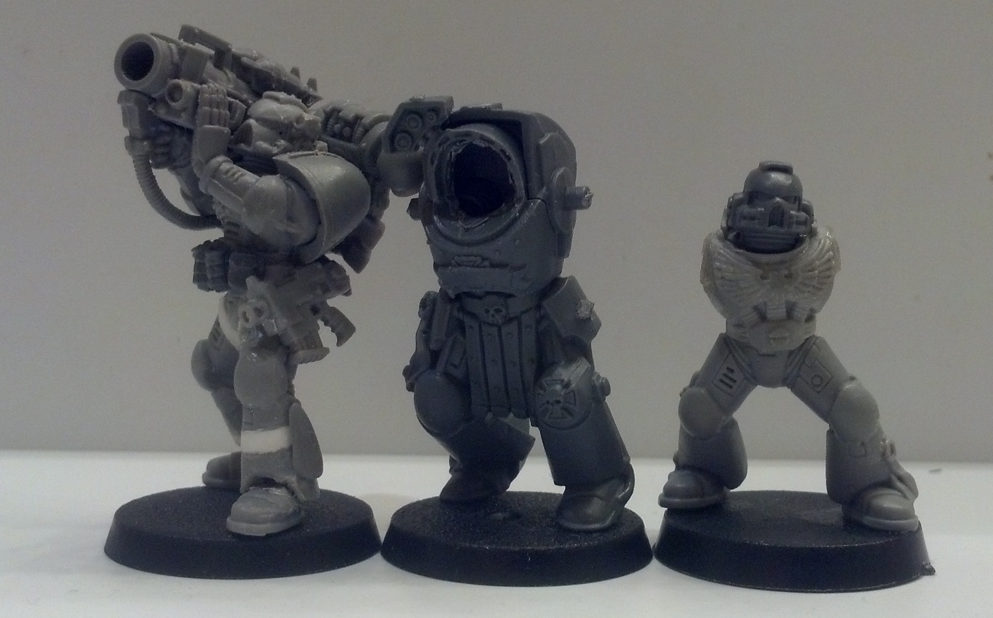 Conversion, Missile Launcher, Space Marines, Tall Scale, Terminator Armor, True Scale