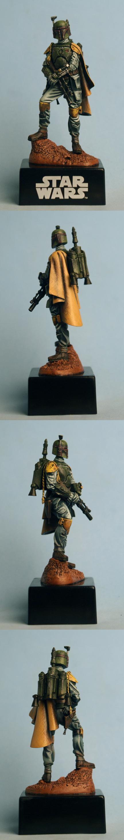 72mm, Boba Fett, Bounty Hunter, Knight Models, Science-fiction, Star Wars