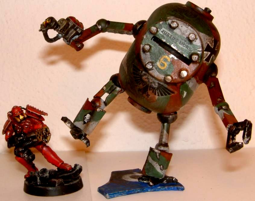 Adeptus, Army, Bob, Conversion, Conversion Riese, Dreadnought, Fun, Gargbot, Gigant, Humor, Imperial, Killacan, Magos, Mars, Ogres, Ogryns, Orcs, Plankton, Scitarii, Scitarius, Scratch Build, Sponge, Tech, Warhammer Fantasy, Work In Progress