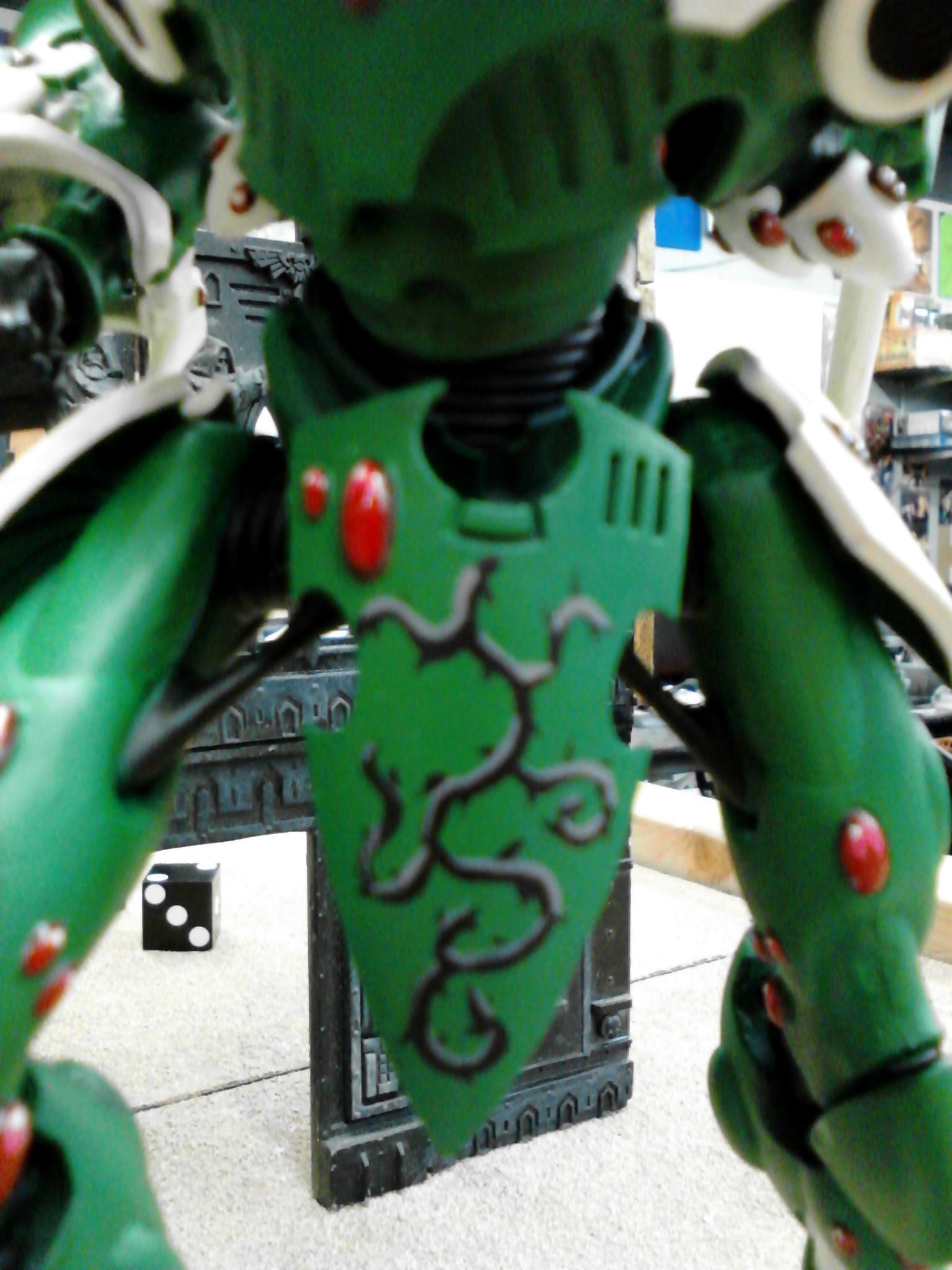 Biel Tan, Eldar, Gems, Green, Thorns, Wraithknight, Yin Yang