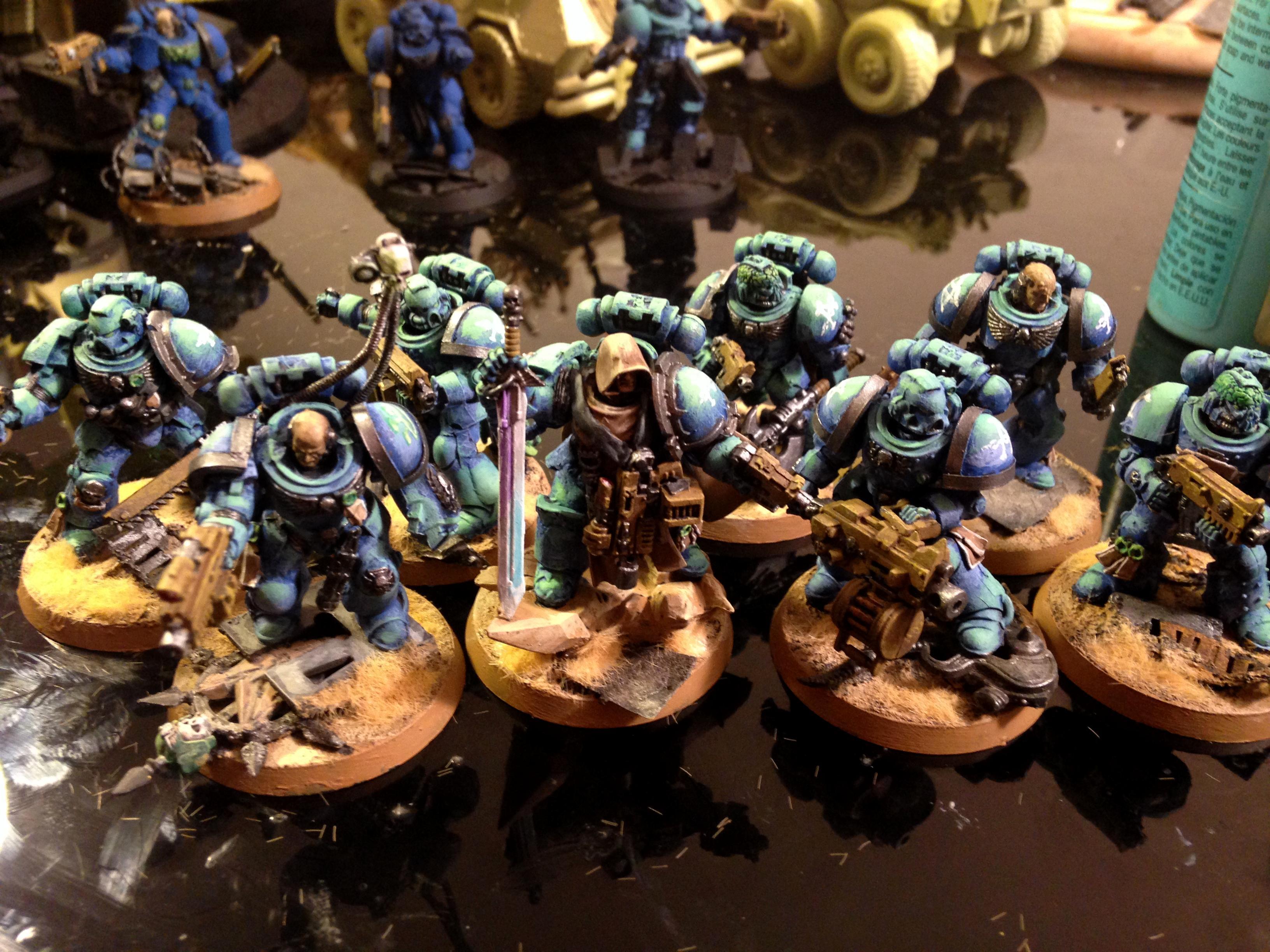 Alpha Legion, Art Scale, Chaos, Conversion, Desert, Kit Bash, Source Lighting, Space Marines, True Scale, Warhammer 40,000, Wet Blending