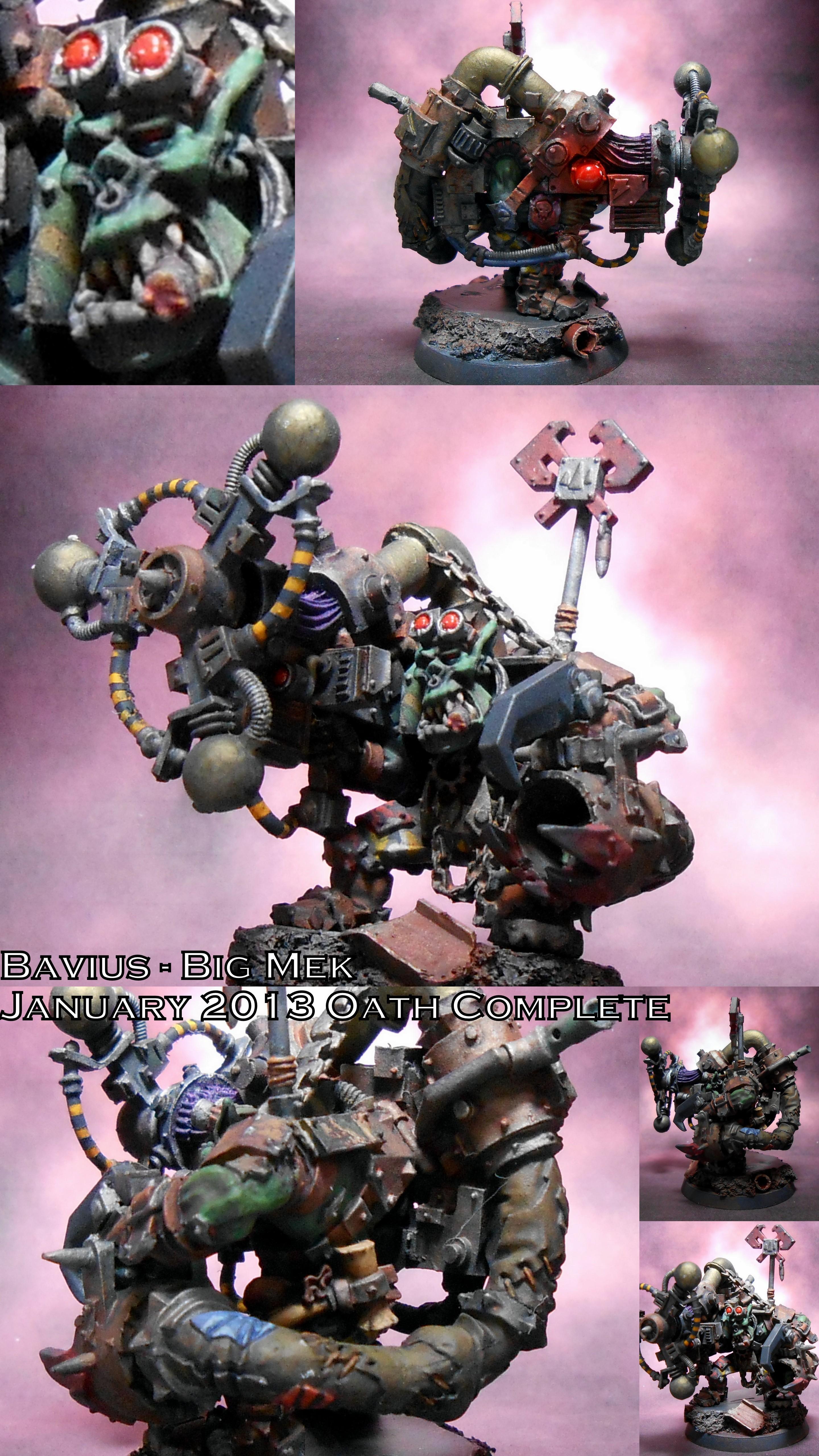 Big Mek, Bigmek, Blood Axe, Camouflage, Conversion, Greenskin, Kit-bashed, Kitbash, Konversion, Mekboy, Orcs, Orks, Pk, Power Klaw, Sag, Shokk Attack, Space Orks, Warboss, Warhammer 40,000