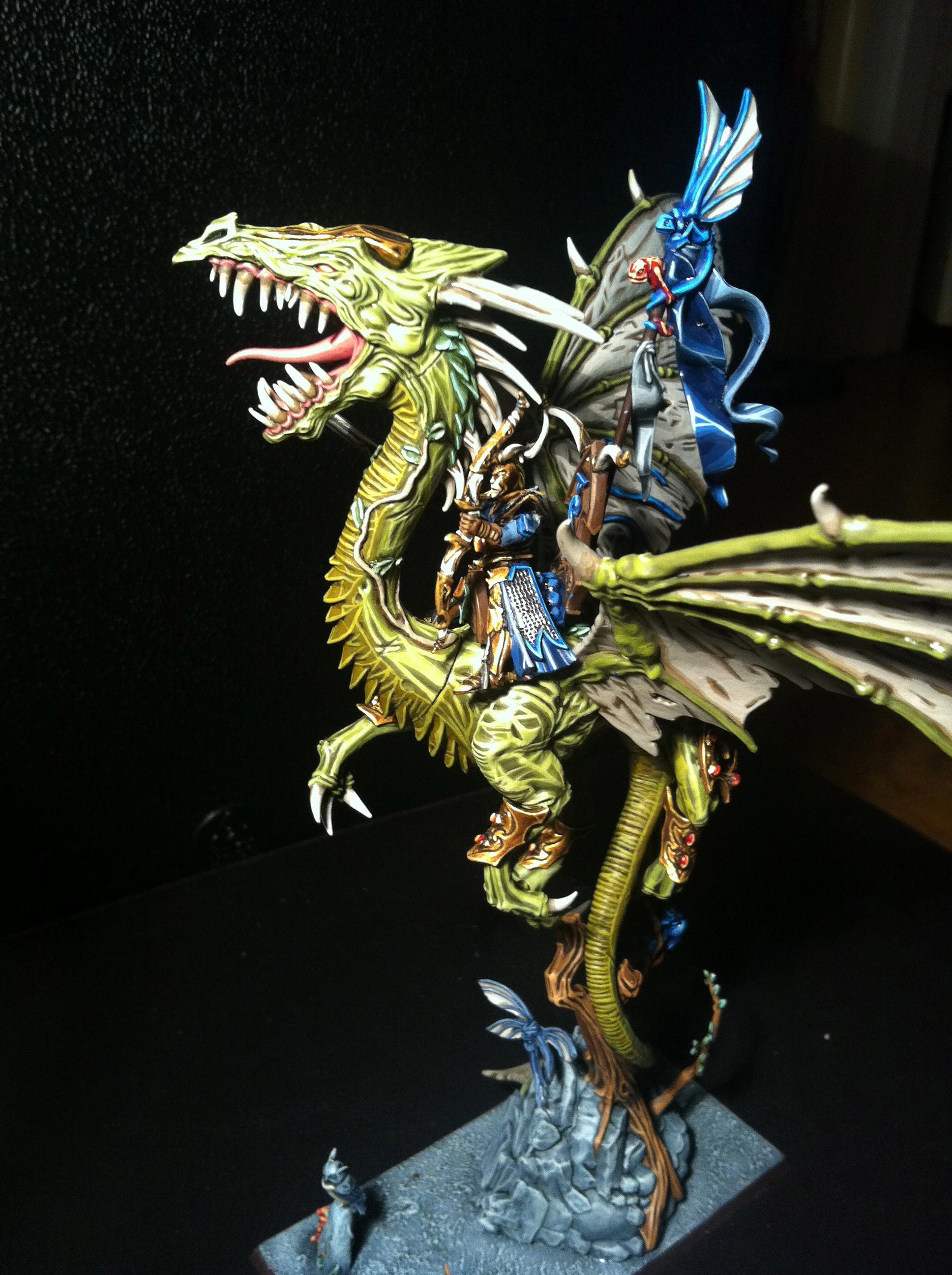 Conversion, Dragon, Warhammer Fantasy, Wood Elves