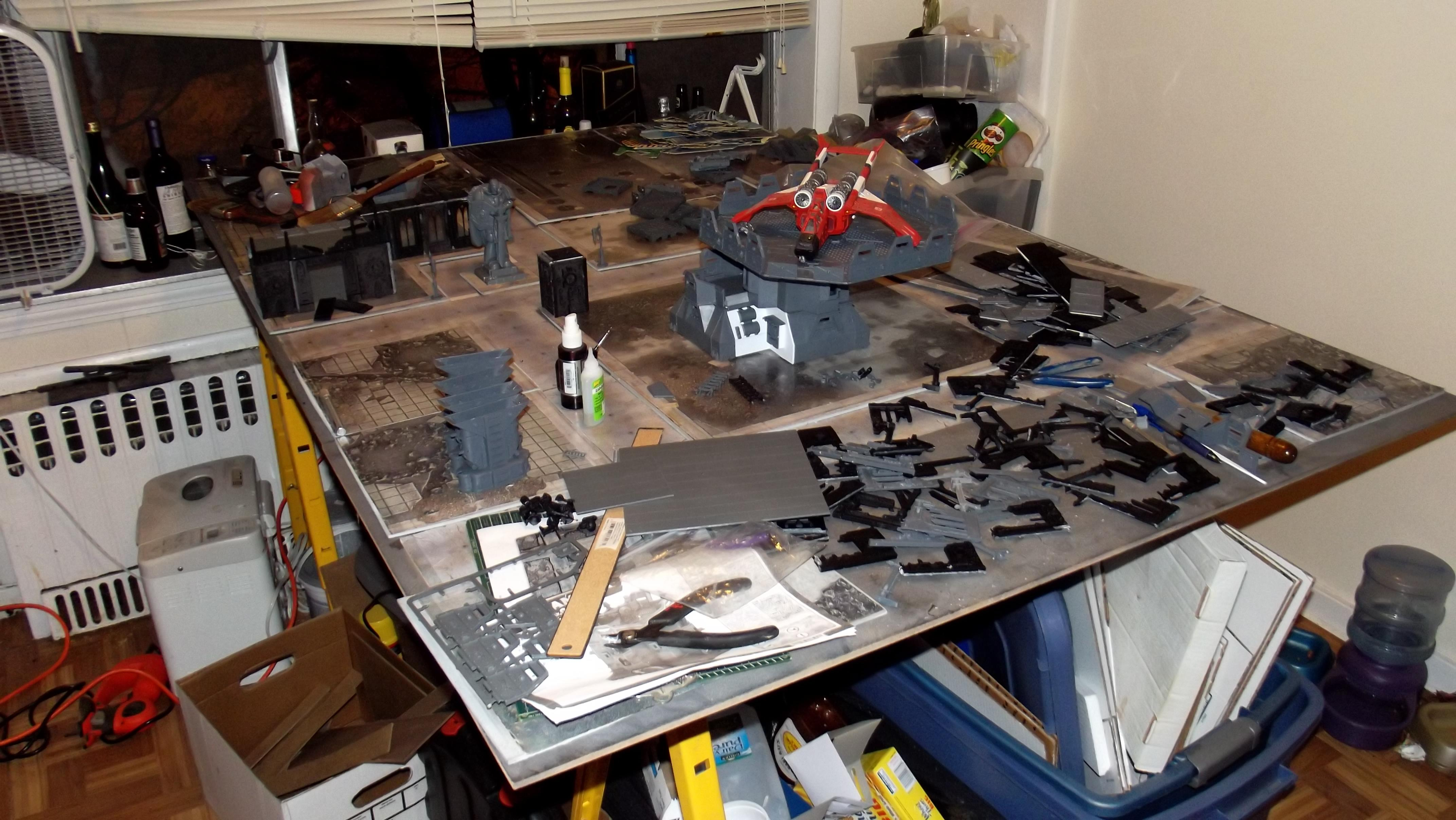 Cities Of Death, Game Table, Messy, Work In Progress
