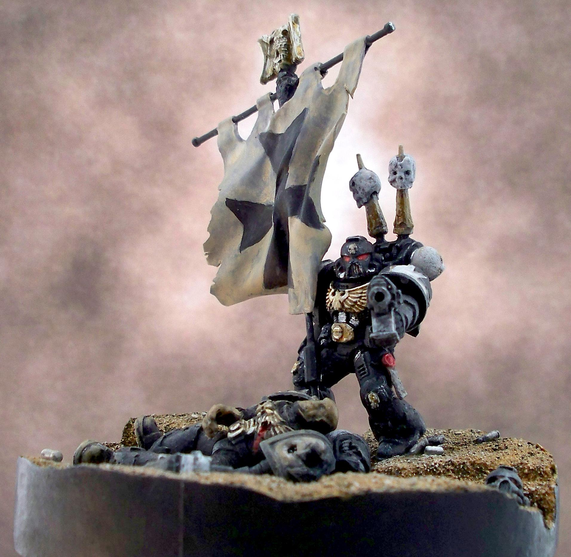 Black, Diorama, Hero, Templars