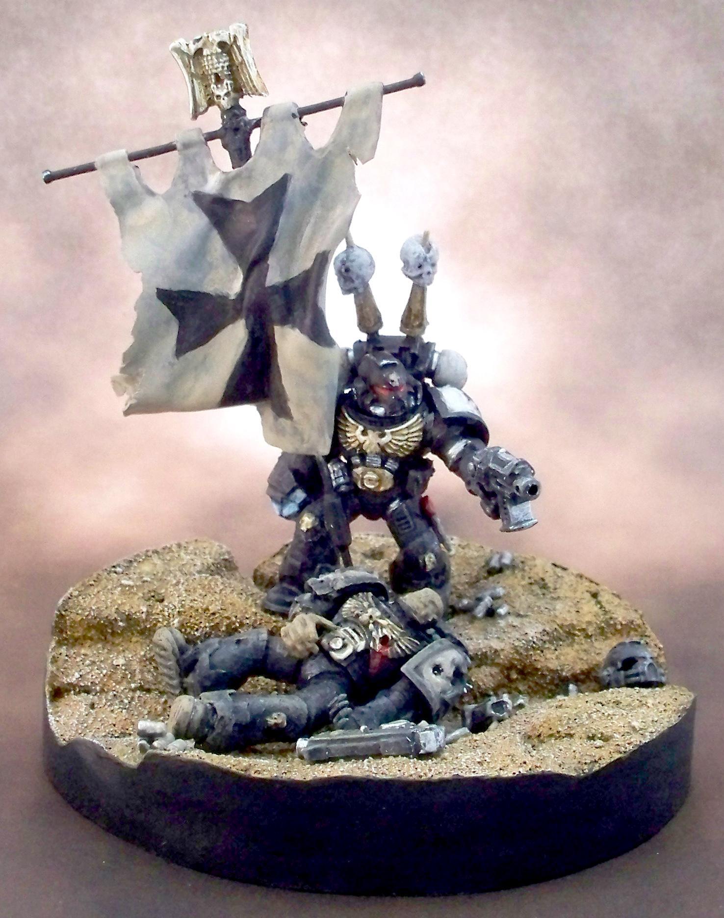 Black, Diorama, Hero, Templars