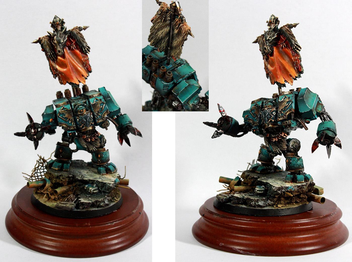 Banner, Dreadnought, Painting Service, Space Marines, Space Wolves