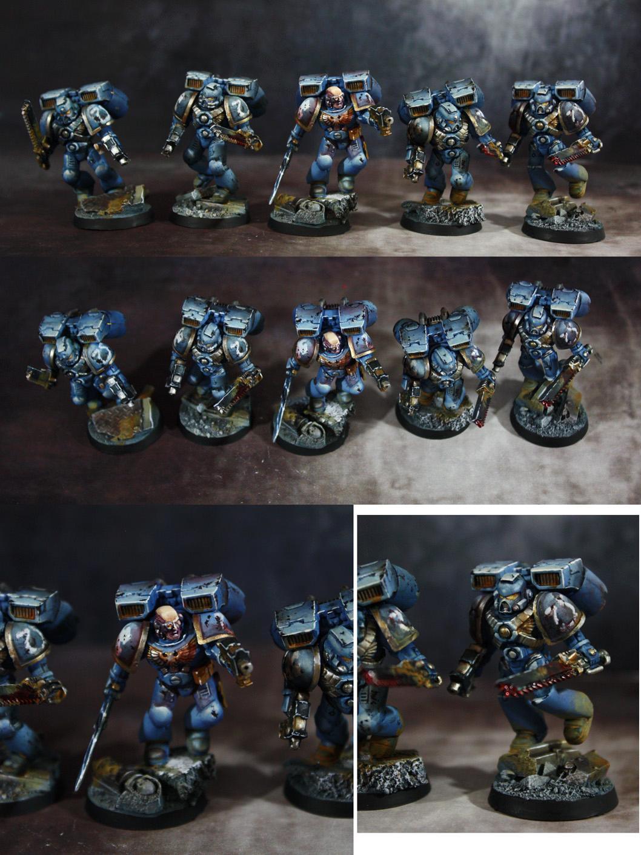 Space Marine Assault Squad, Space Marines, Ultramarines, Warhammer 40,000