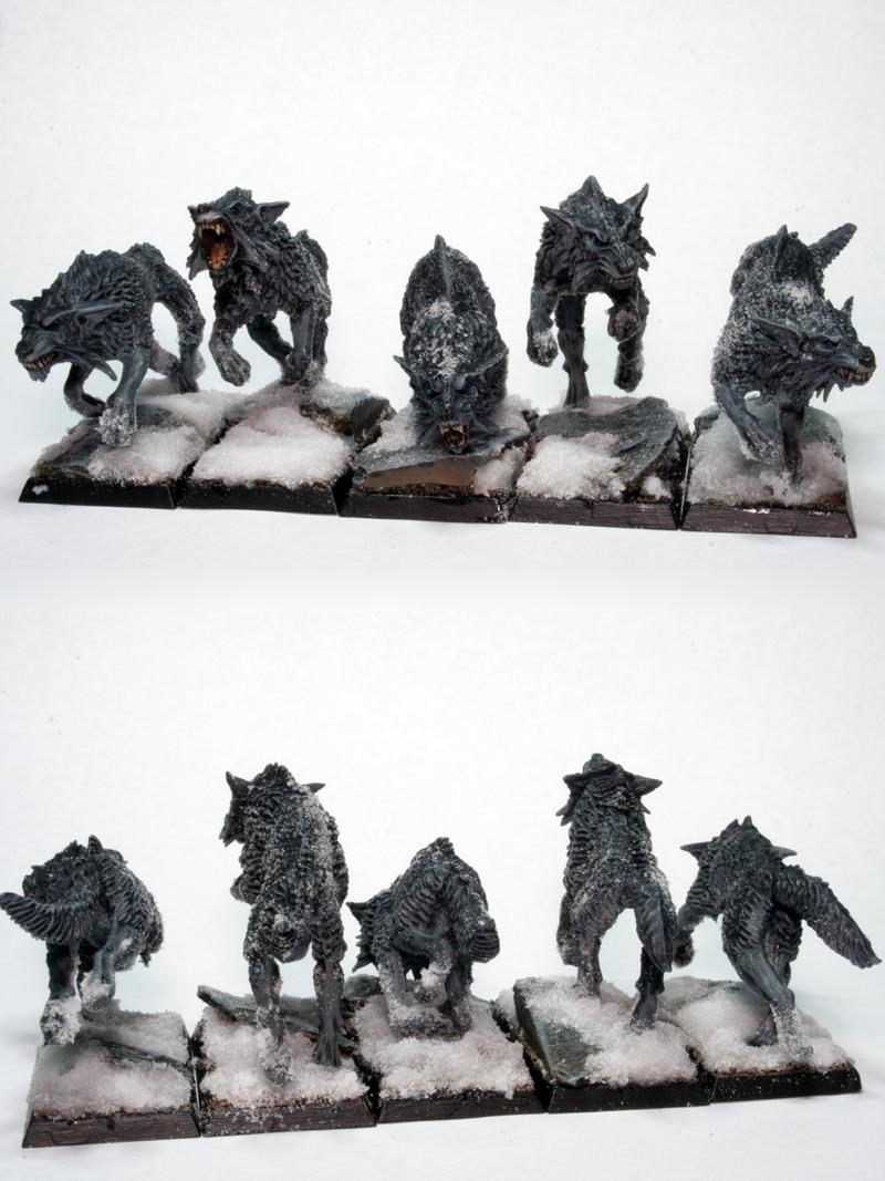 Fenrisian, Snow, Warhammer Fantasy, Warhound, Wolves