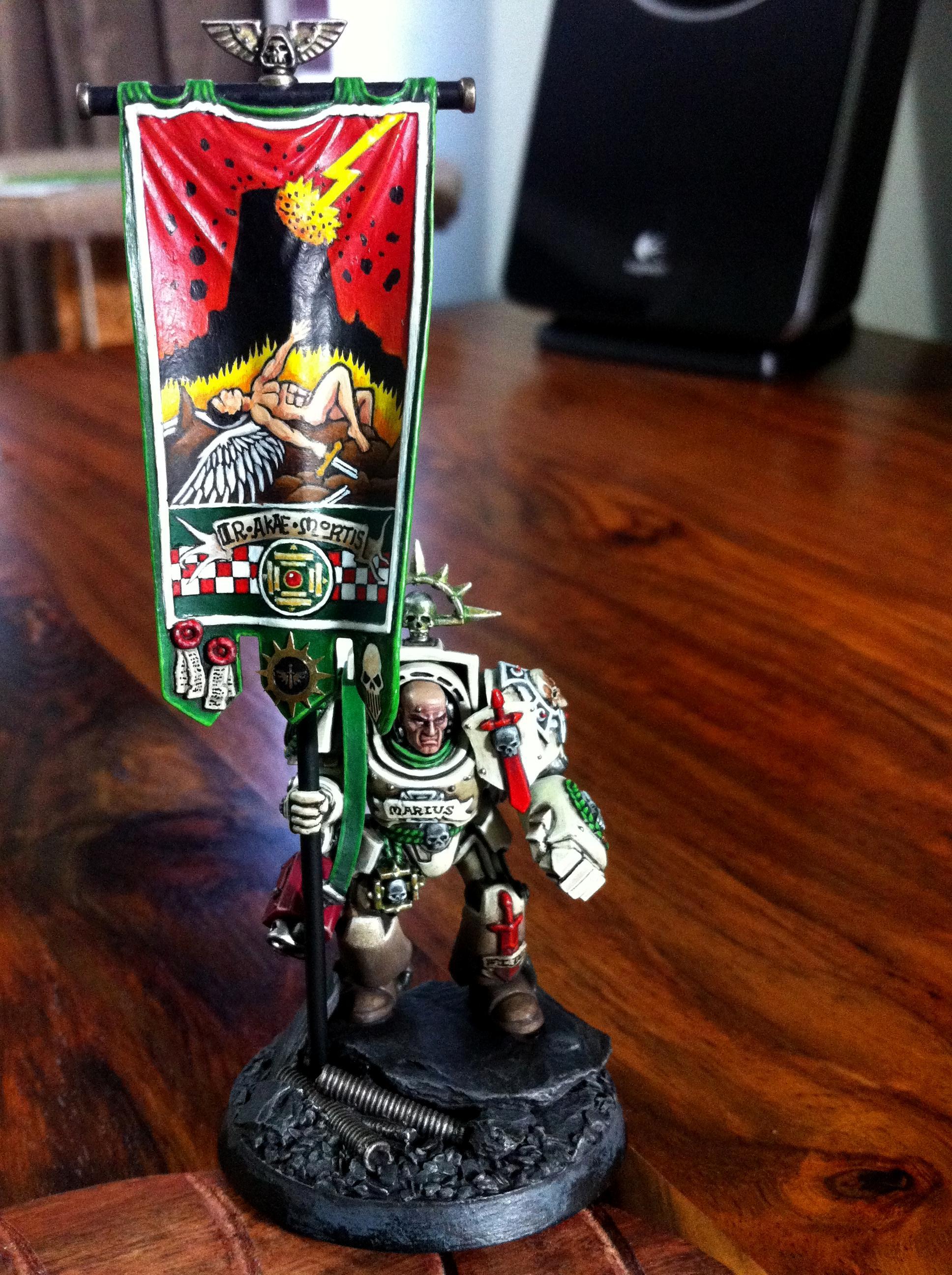 Dark Angels, Deathwing, Space Marines, Standard, Warhammer 40,000