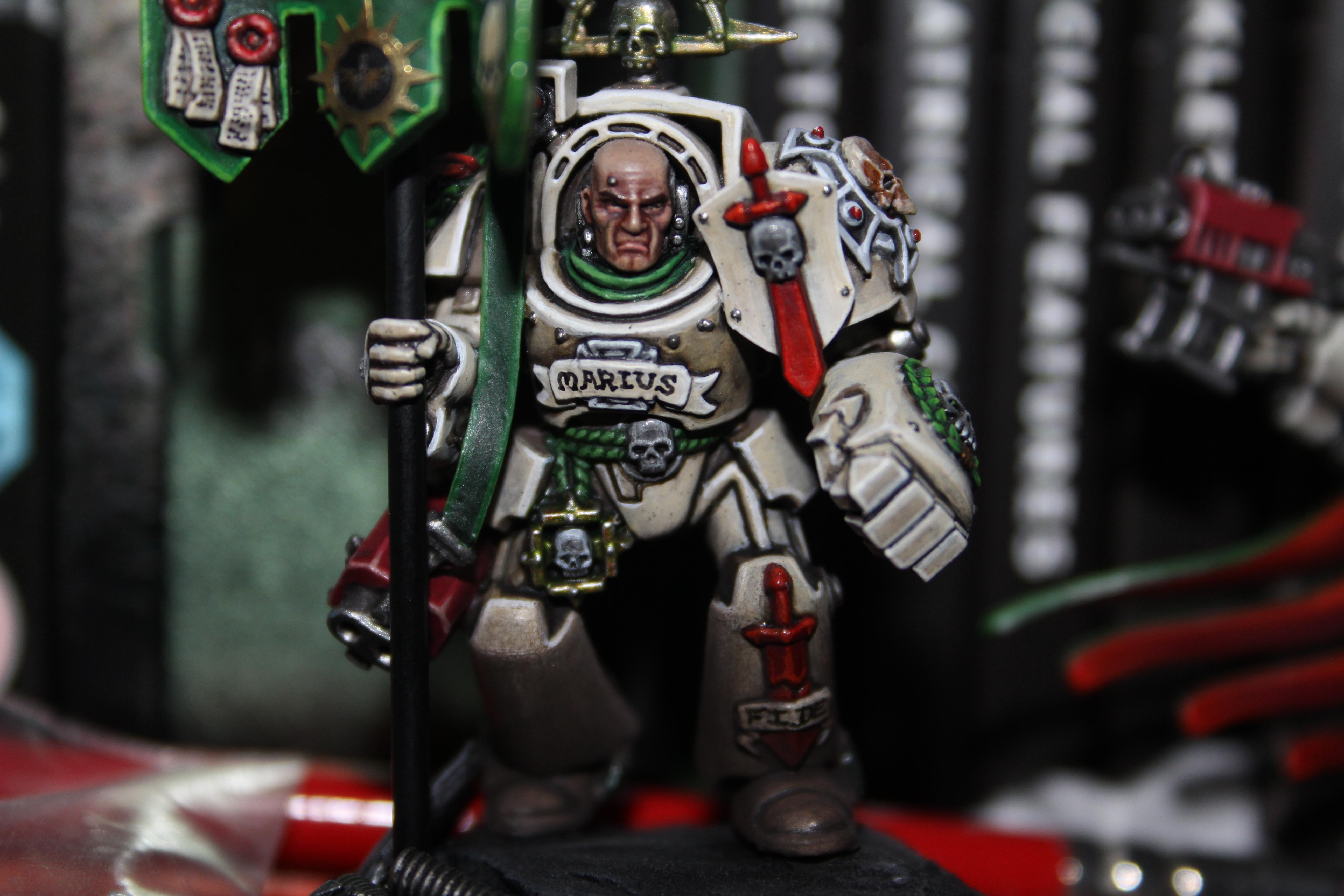 Dark Angels, Deathwing, Space Marines, Standard, Warhammer 40,000