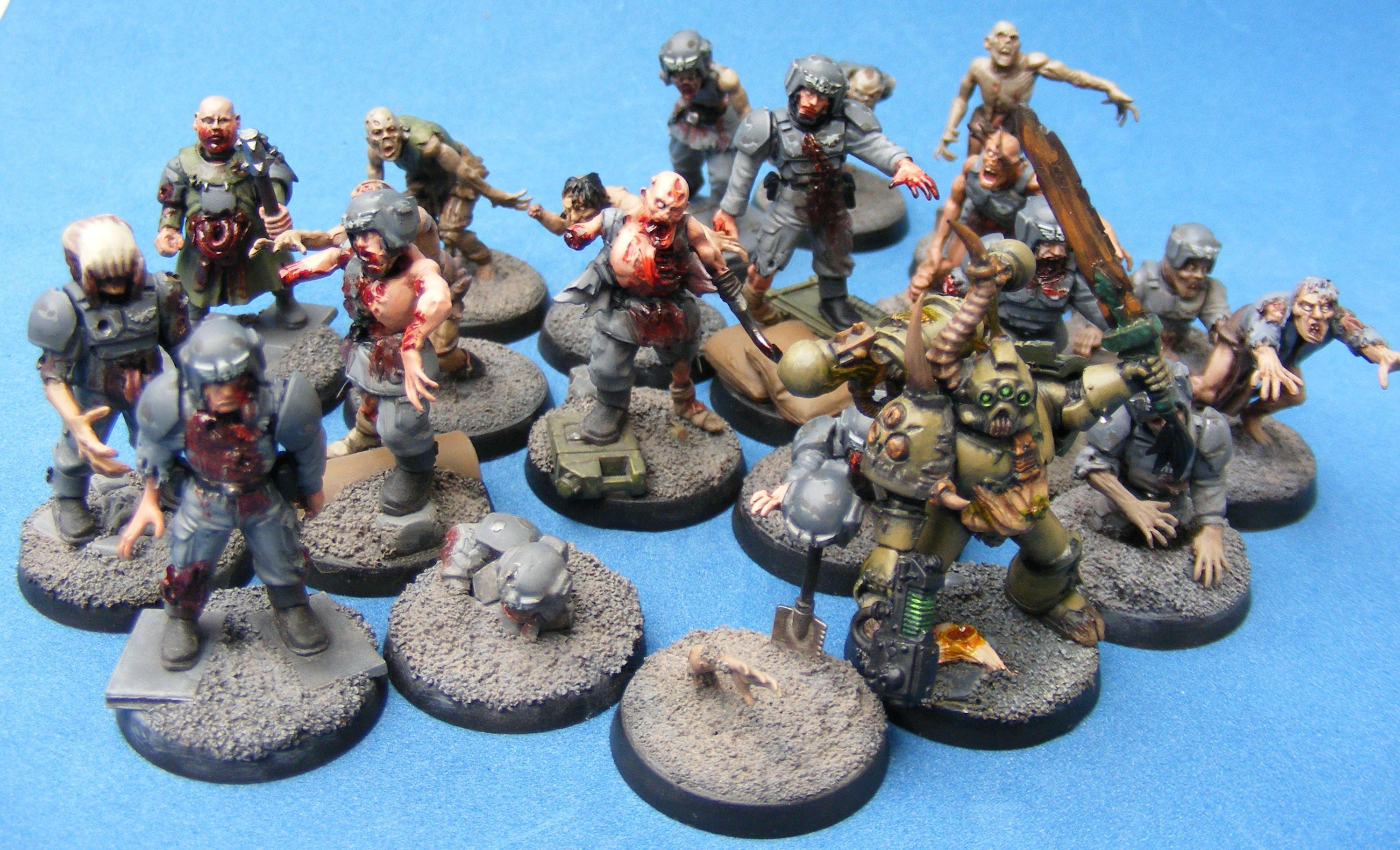 Chaos, Nurgle, Warhammer 40,000, Zombie