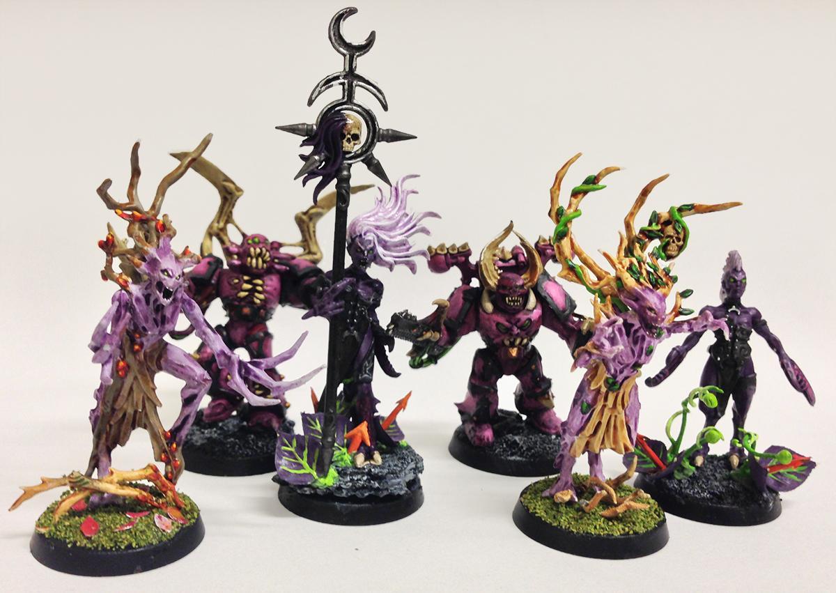 Chaos Space Marines, Daemonette Of Slaanesh, Daemonettes, Dryad, Possessed, Possessed Chaos Space Marine, Wood Elves