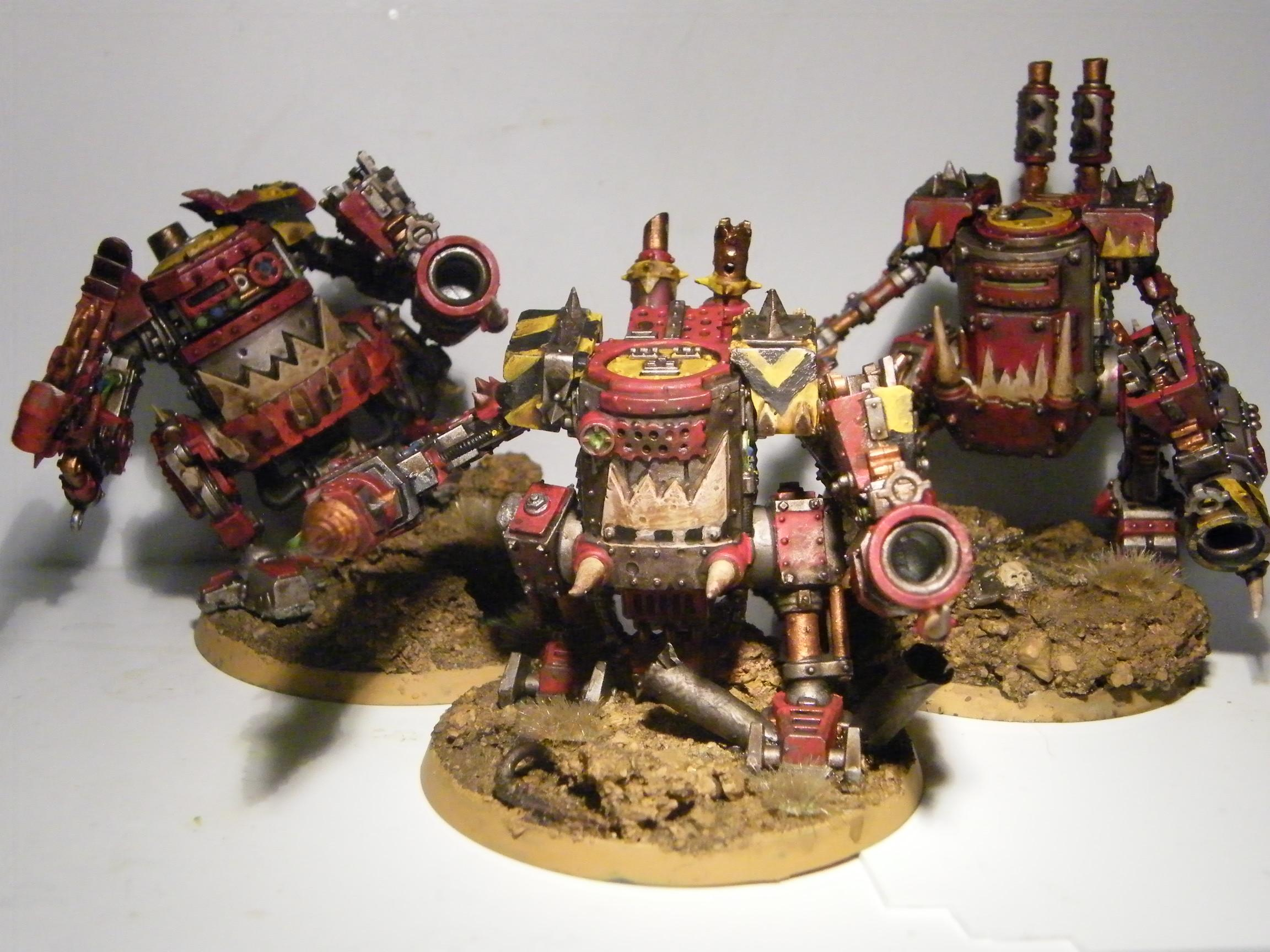 Grots, Heavy, Killa Kan, Mech Walker, Ork Kan Killa Killakan Heavy Support Mech Walker, Orks, Support