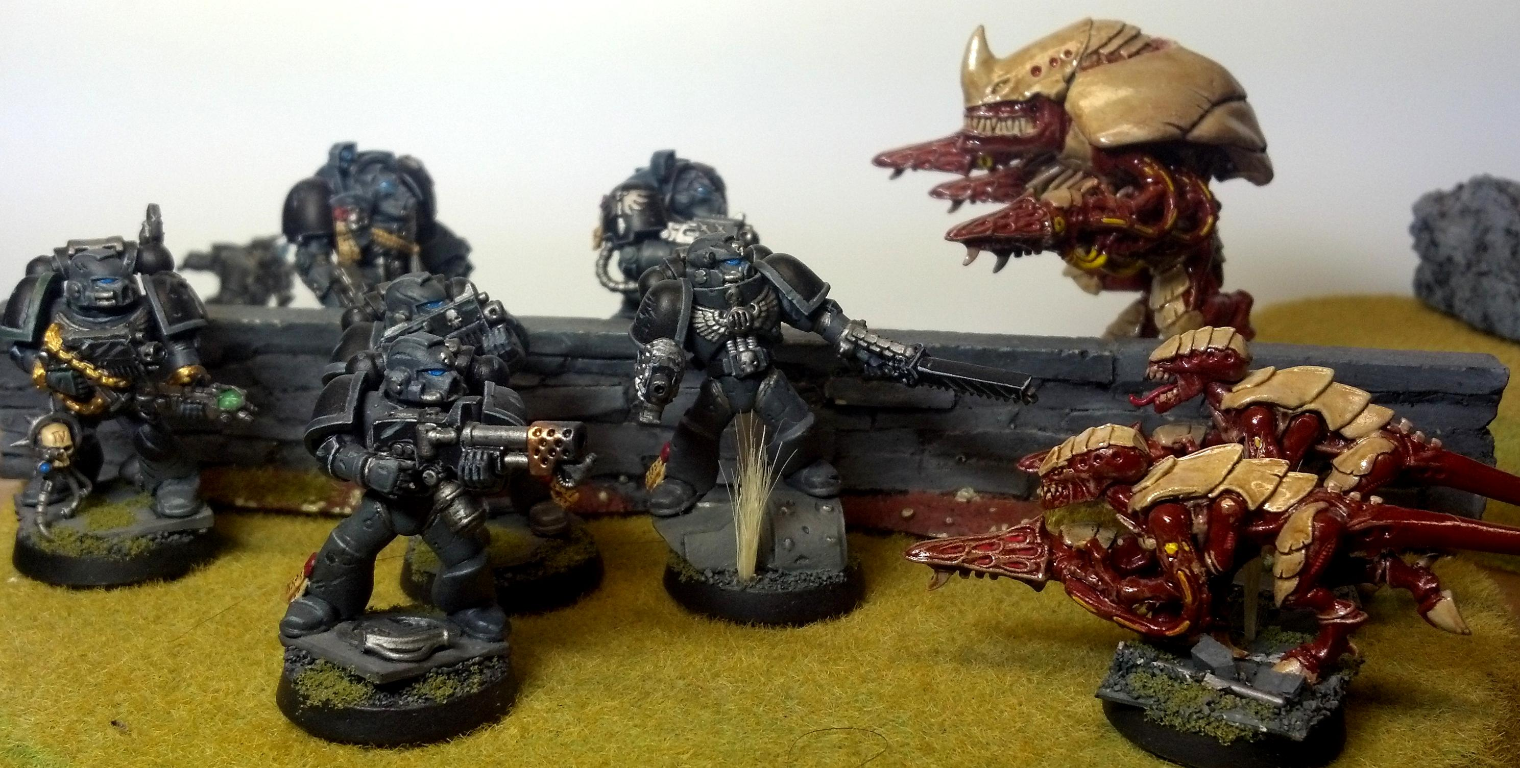 Space Marines, Tactical Squad, Tyranids, Warhammer 40,000
