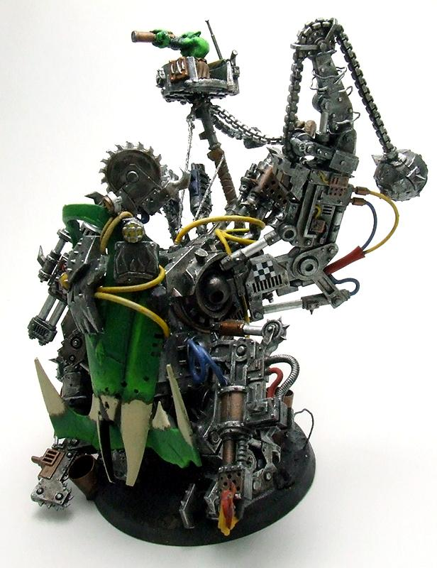 Dakka Dakka, Deff Dread, Dreadnought, Kitbashed, Orks, Scratch Build, Stompy