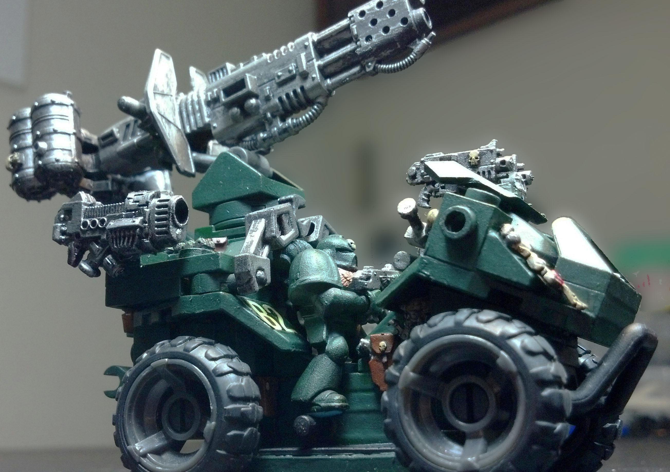 4x4, Army, Astartes, Dark Angels, Darkangels, Military, Next Generation, Quad, Ravenwing, Space Marines, Spacemarine, War, Warhammer 40,000, Warhammer Fantasy