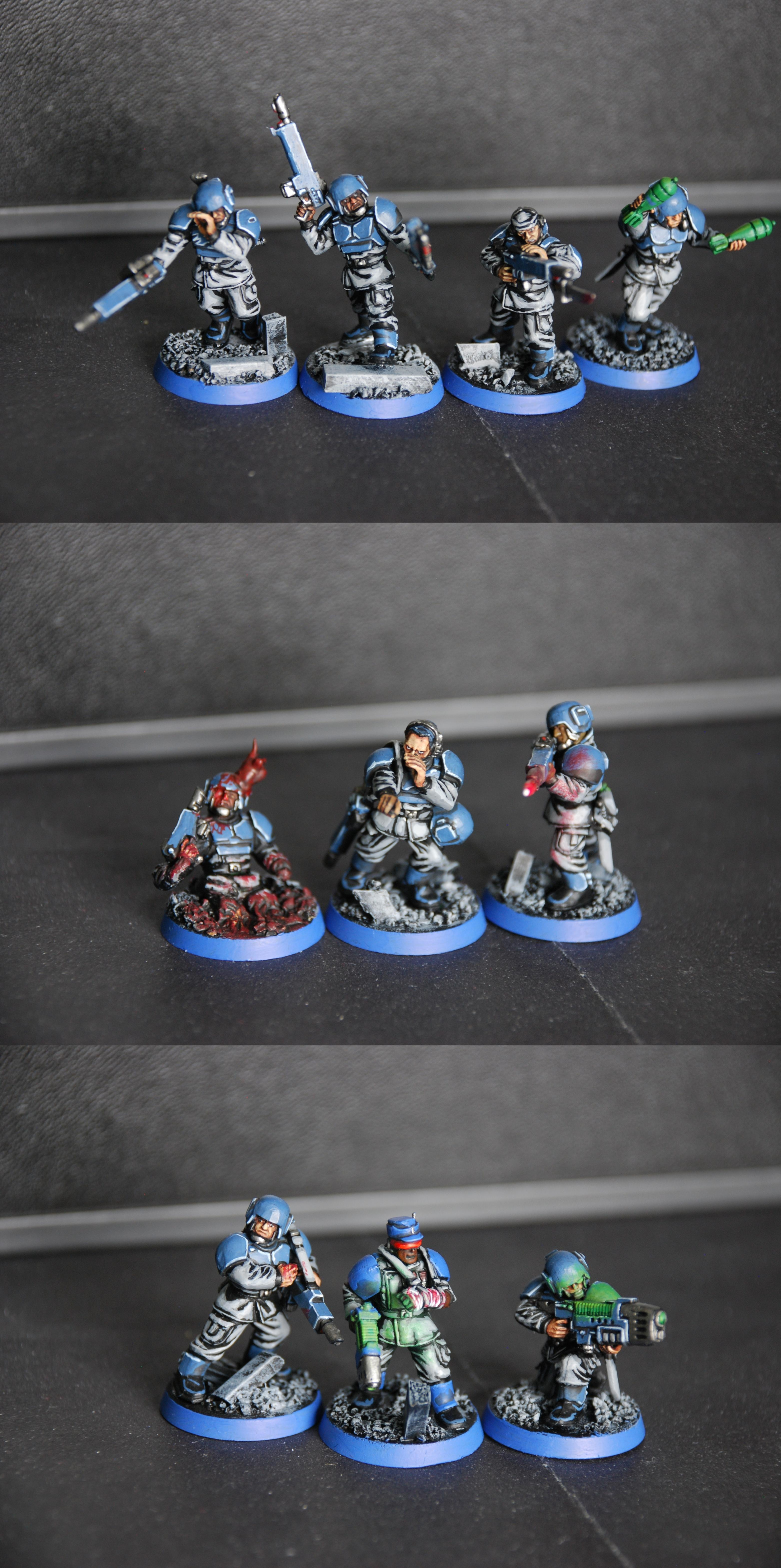 Guardsmen, Imperial Guard, Infantry, Infantry Squad, Object Source Lighting, Plasma, Troops, Warhammer 40,000, Wounded