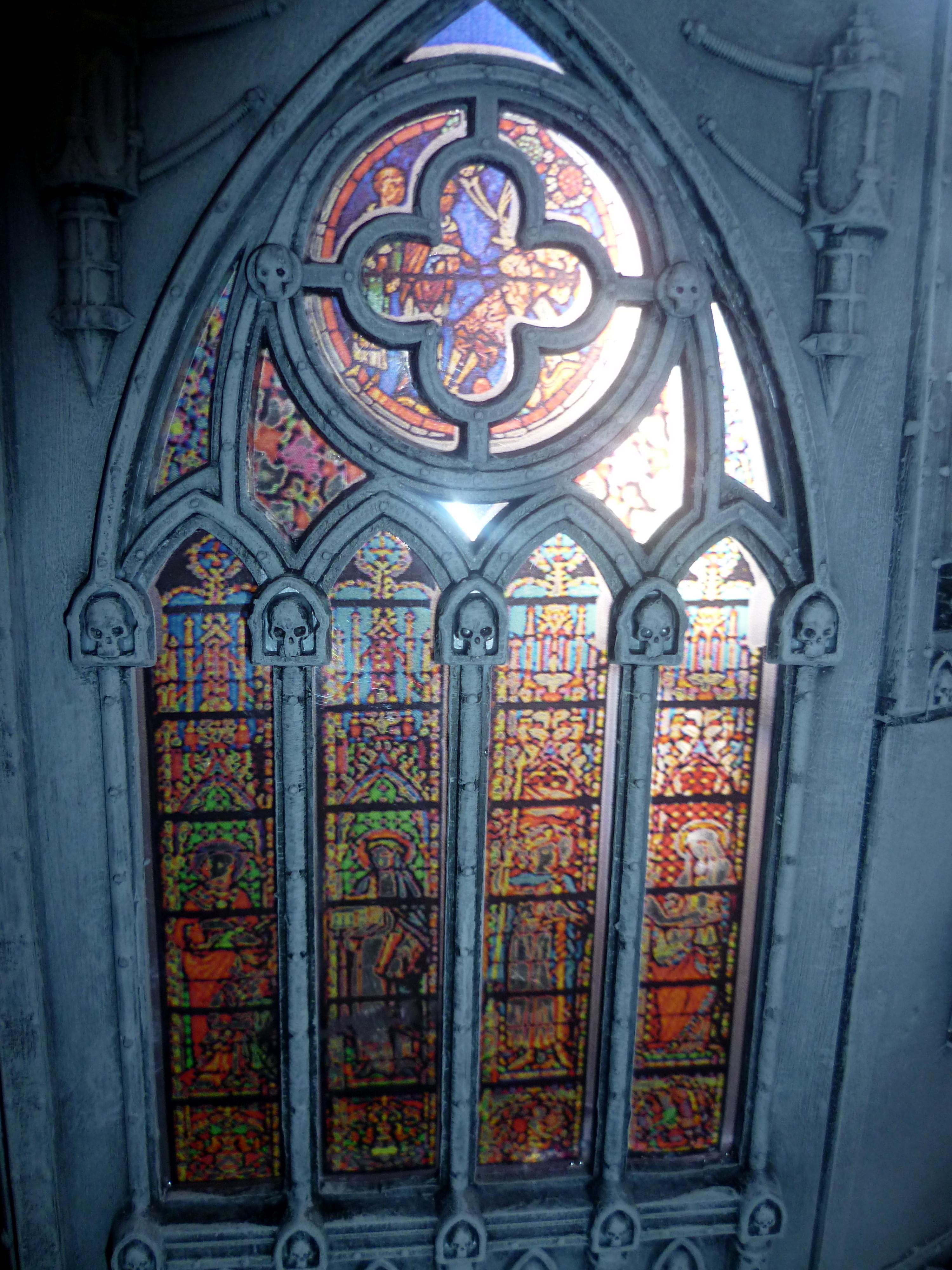 Cathedral, Conversion, Diorama, Scratch Build, Stained Glass, Terrain, Warhammer 40,000
