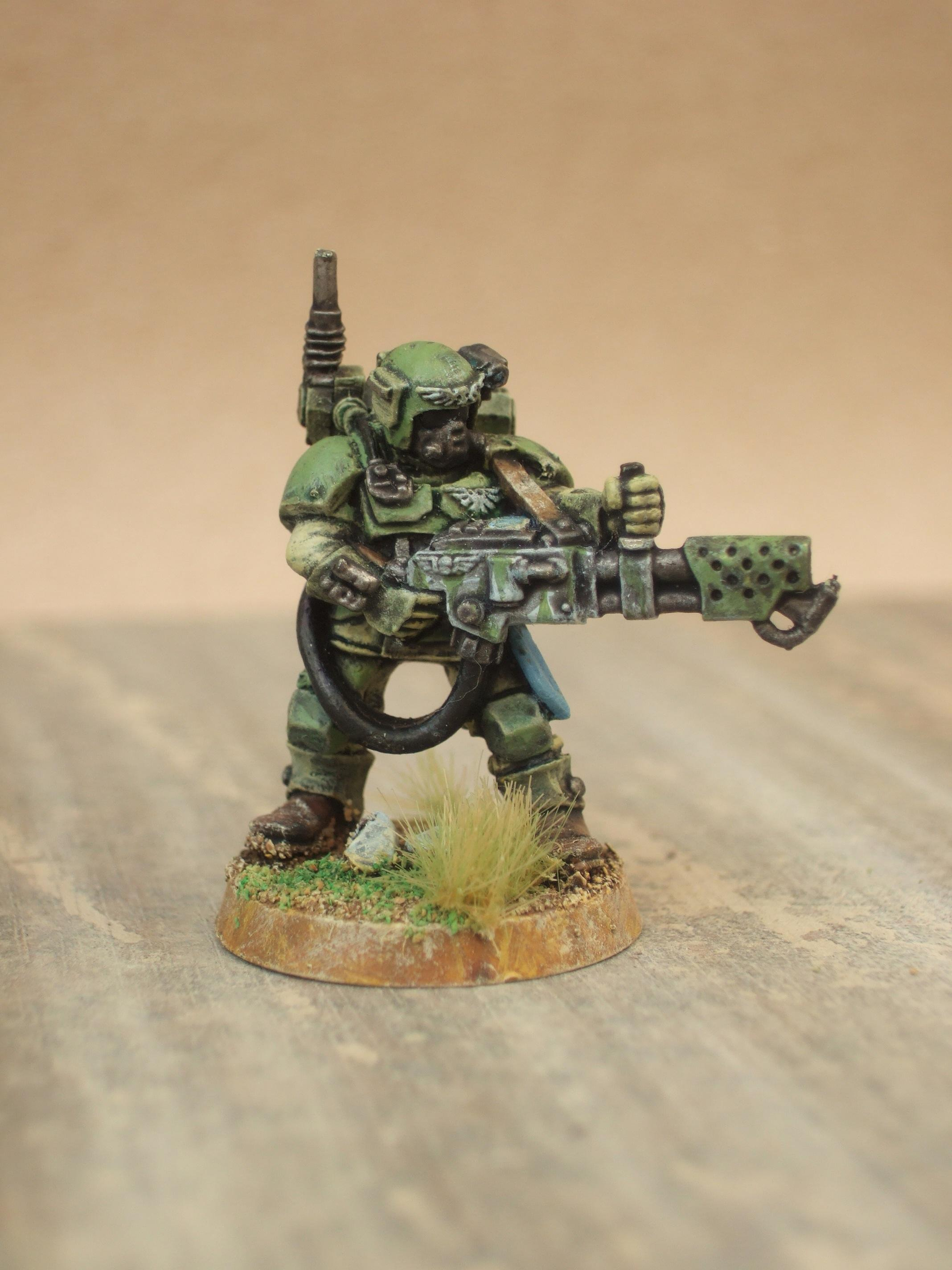 Cadians, Flamer, Imperial Guard, Painted, Warhammer 40,000