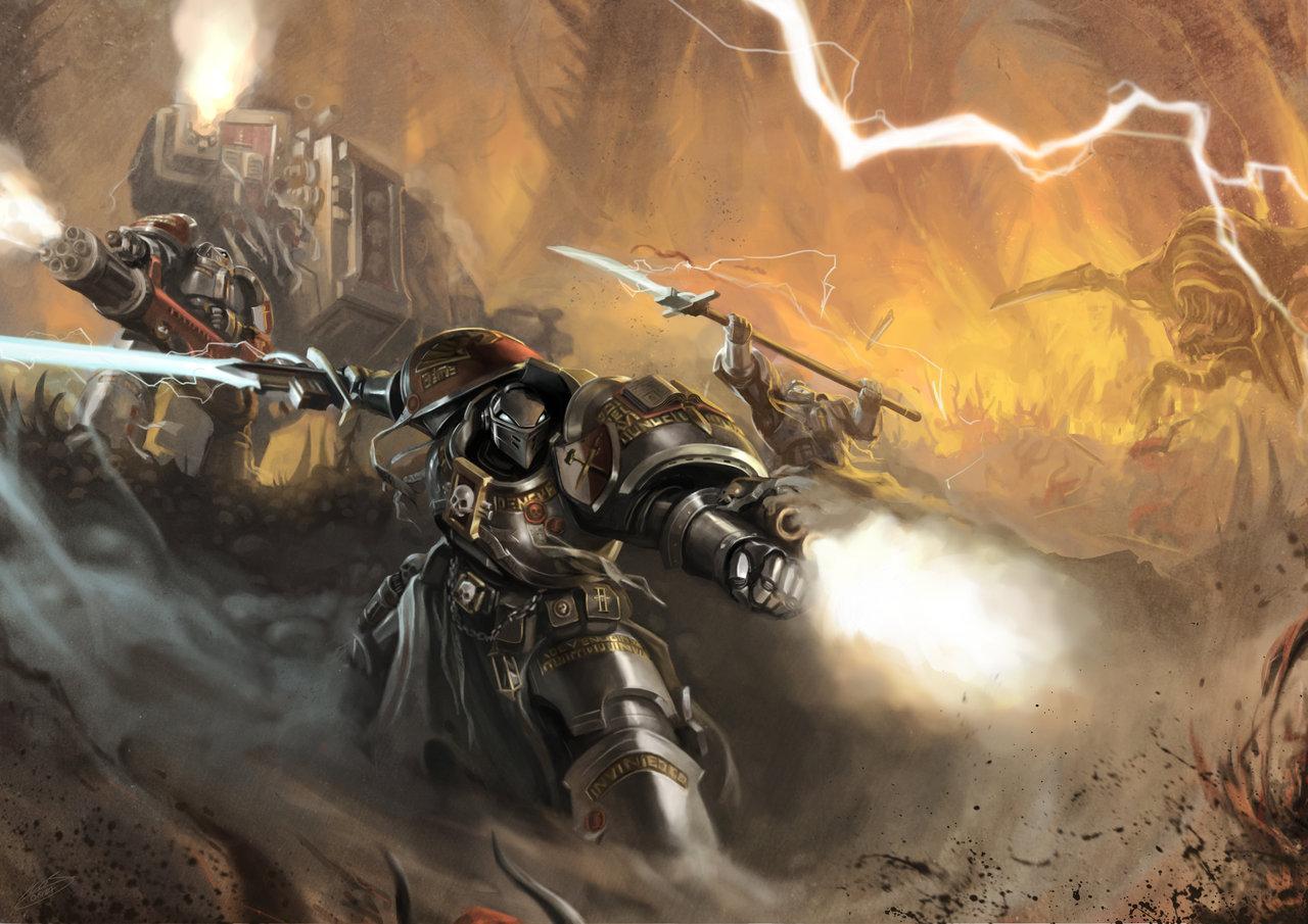 666, Dreadnought, Fanart, Grey Knights, Paladins, Terminator Armor