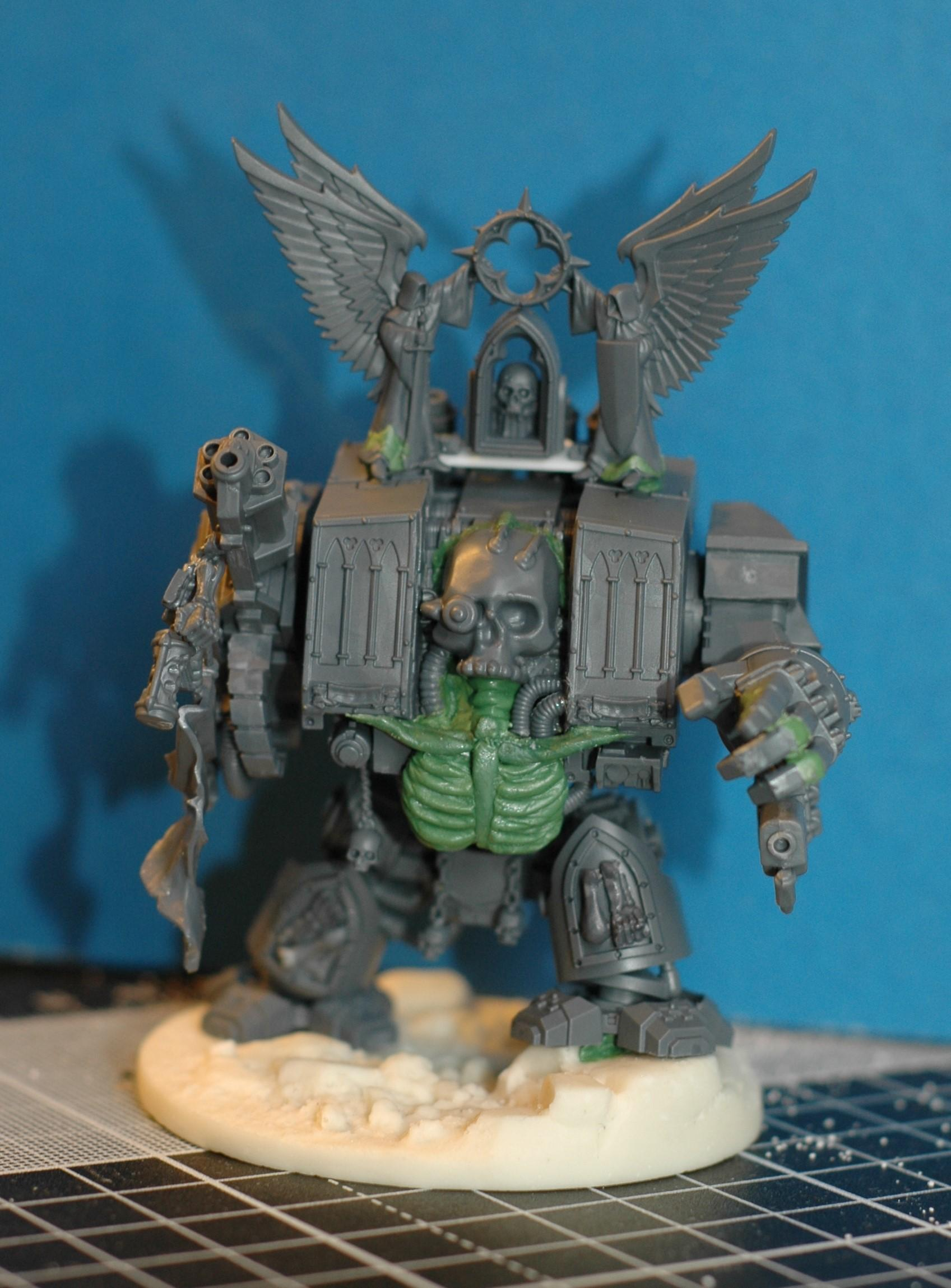 Chaplain, Conversion, Dark Angels, Deathwing, Dreadnought, Kitbash