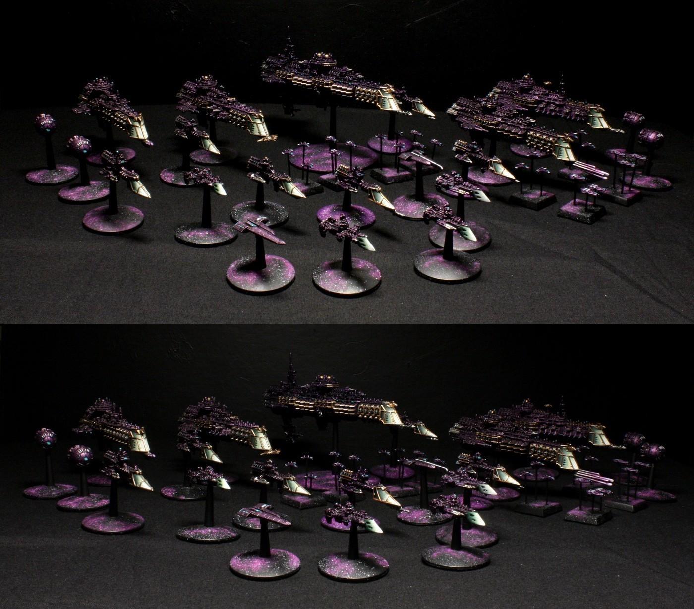 Battlefleet, Battlefleet Gothic, Fleet, Gold, Gothic, Prows, Purple, Ships, Wesselstein, White