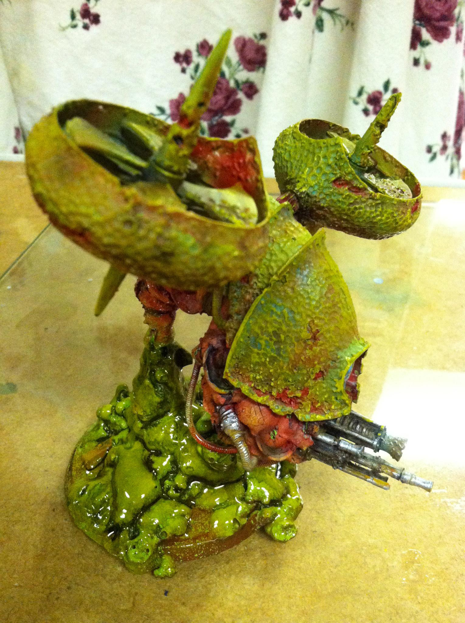 Airbrushed, Blight Drone, Chaos, Forge World, Nurgle, Warhammer 40,000
