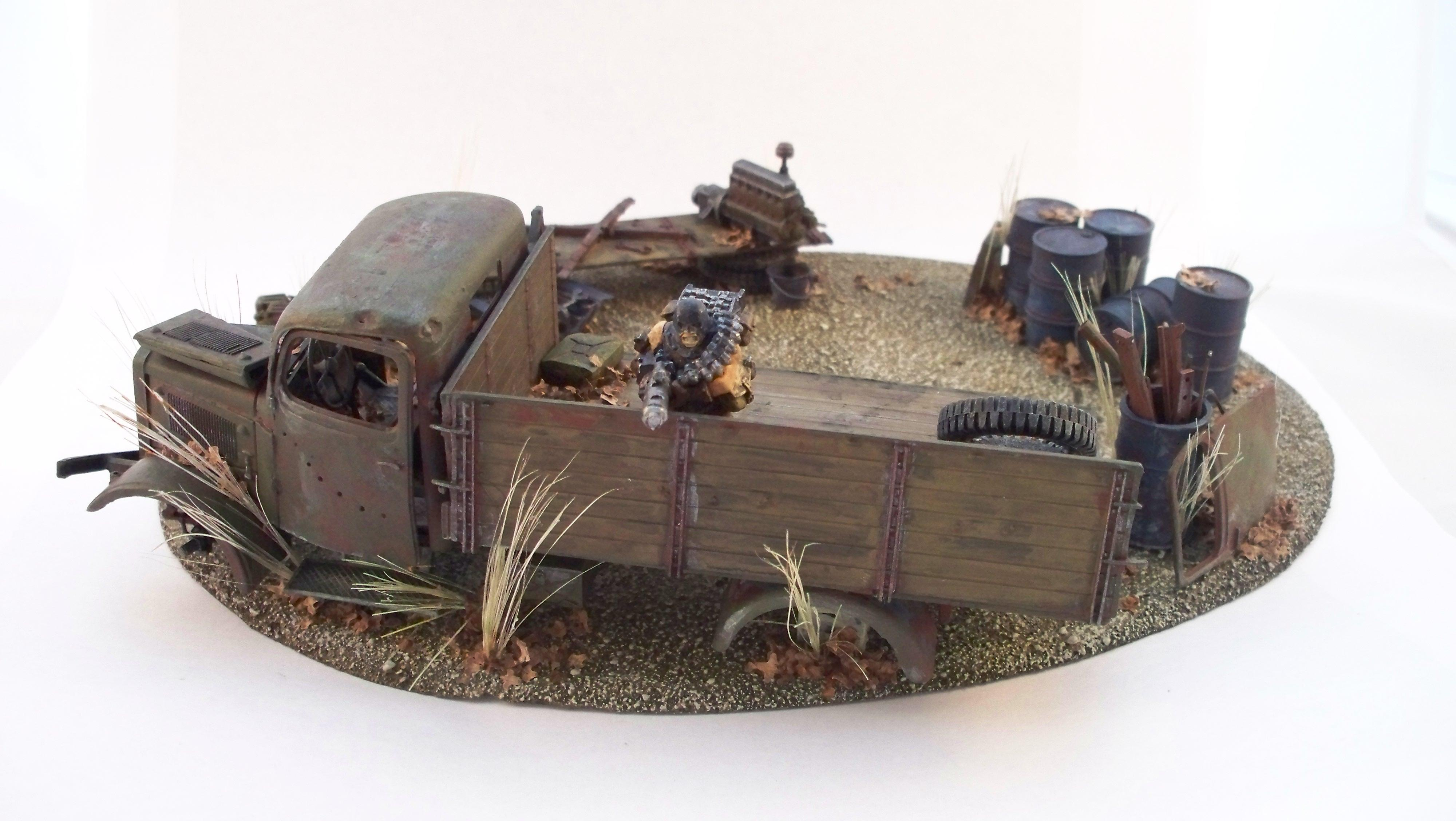 Abandoned, Scrap, Terrain, Truck