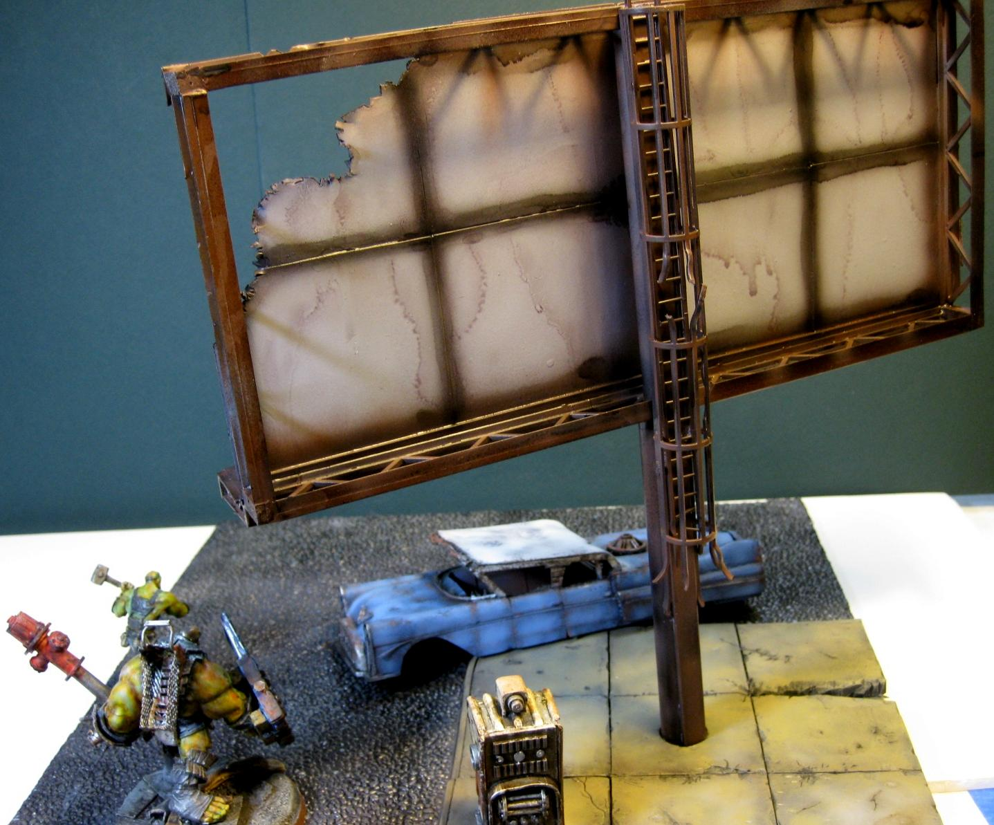 Billboard, Corvega, Fallout, Scratch Build