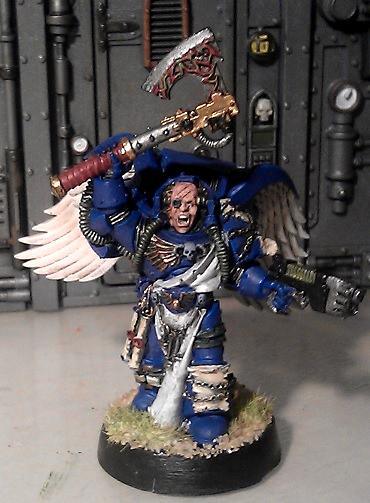 Finecast, Jump Pack, Kitbash, Librarian, Space Marines