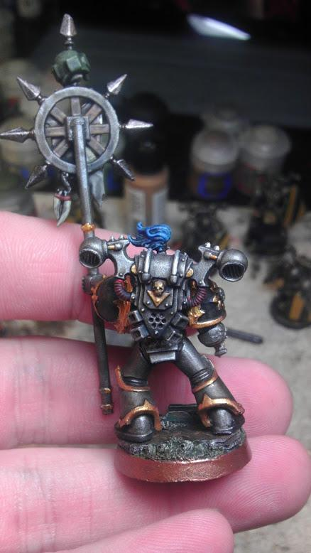 Chaos Space Marines, Icon Bearer, Icon Of Vengeance, Iron Warriors