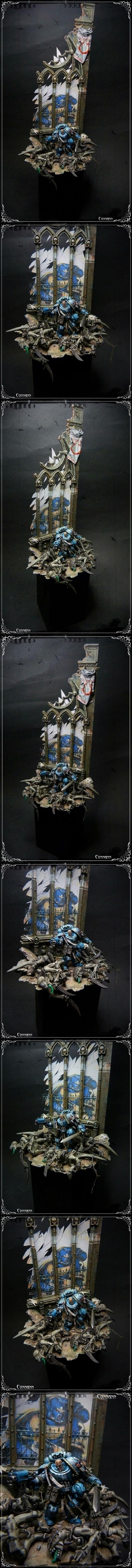 Terrain, Tyranids, Ultramarines, W40k, Warhammer 40,000