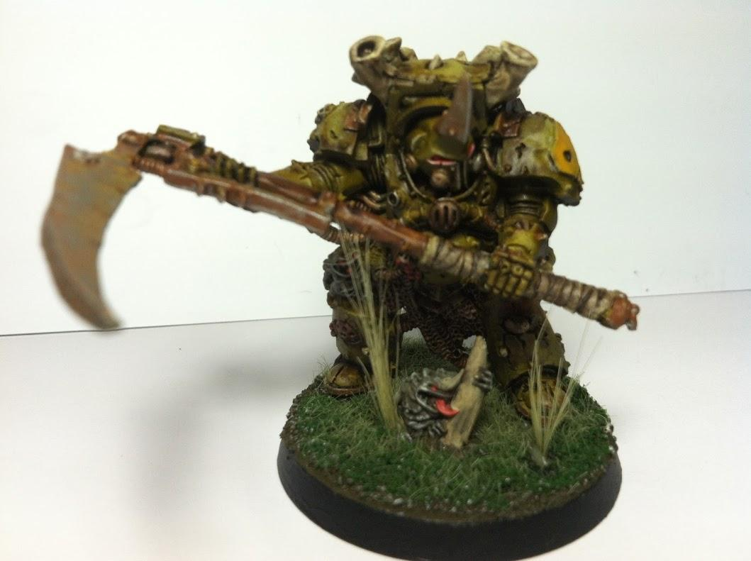 Airbrush, Chaos, Chaos Space Marines, Character, Decay, Disease, Headquarters, Nurgle, Plague Marines, Rust, Typhus