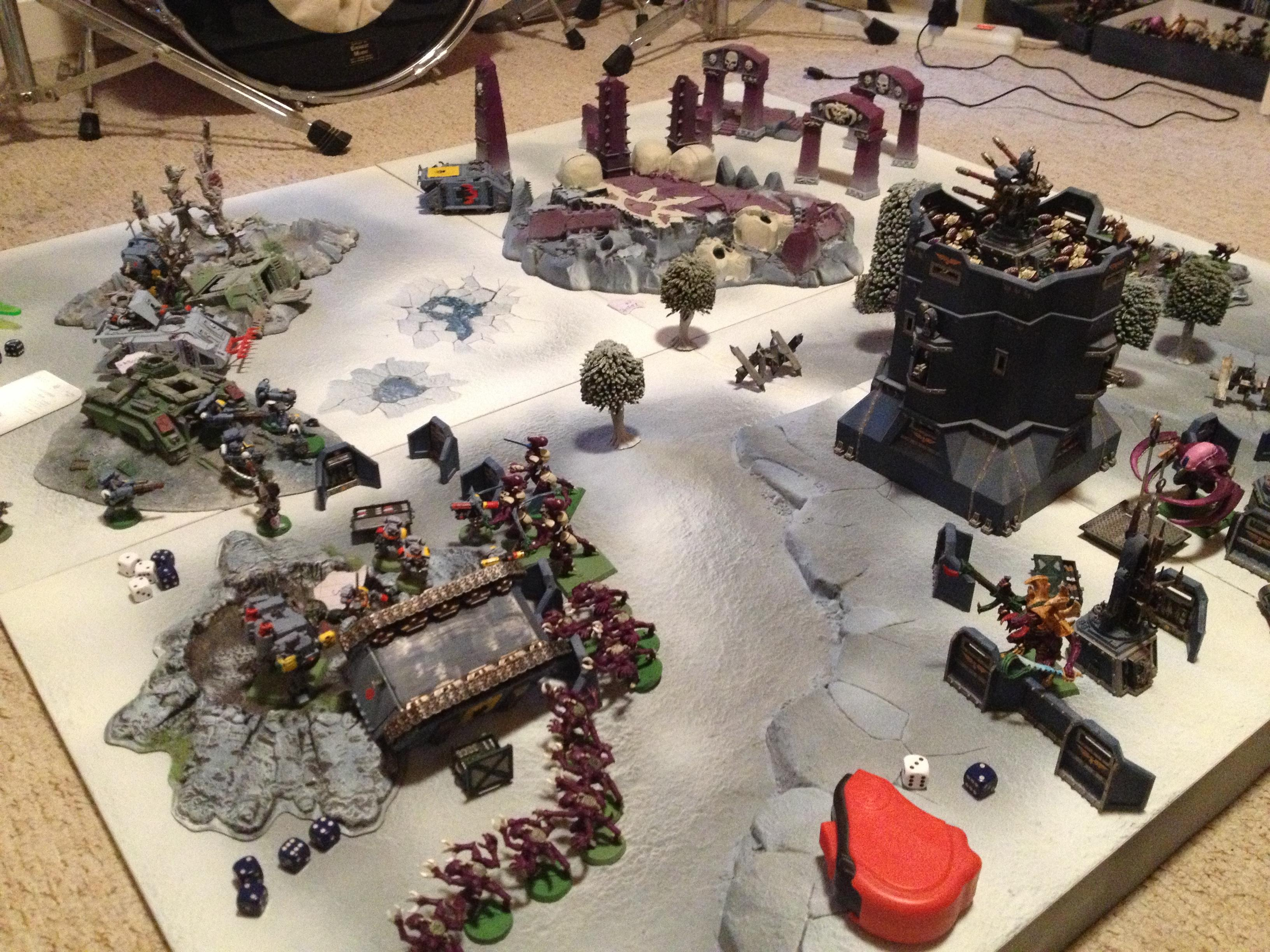 Battle, Game, Space Wolves, Tyranids, Warhammer 40,000