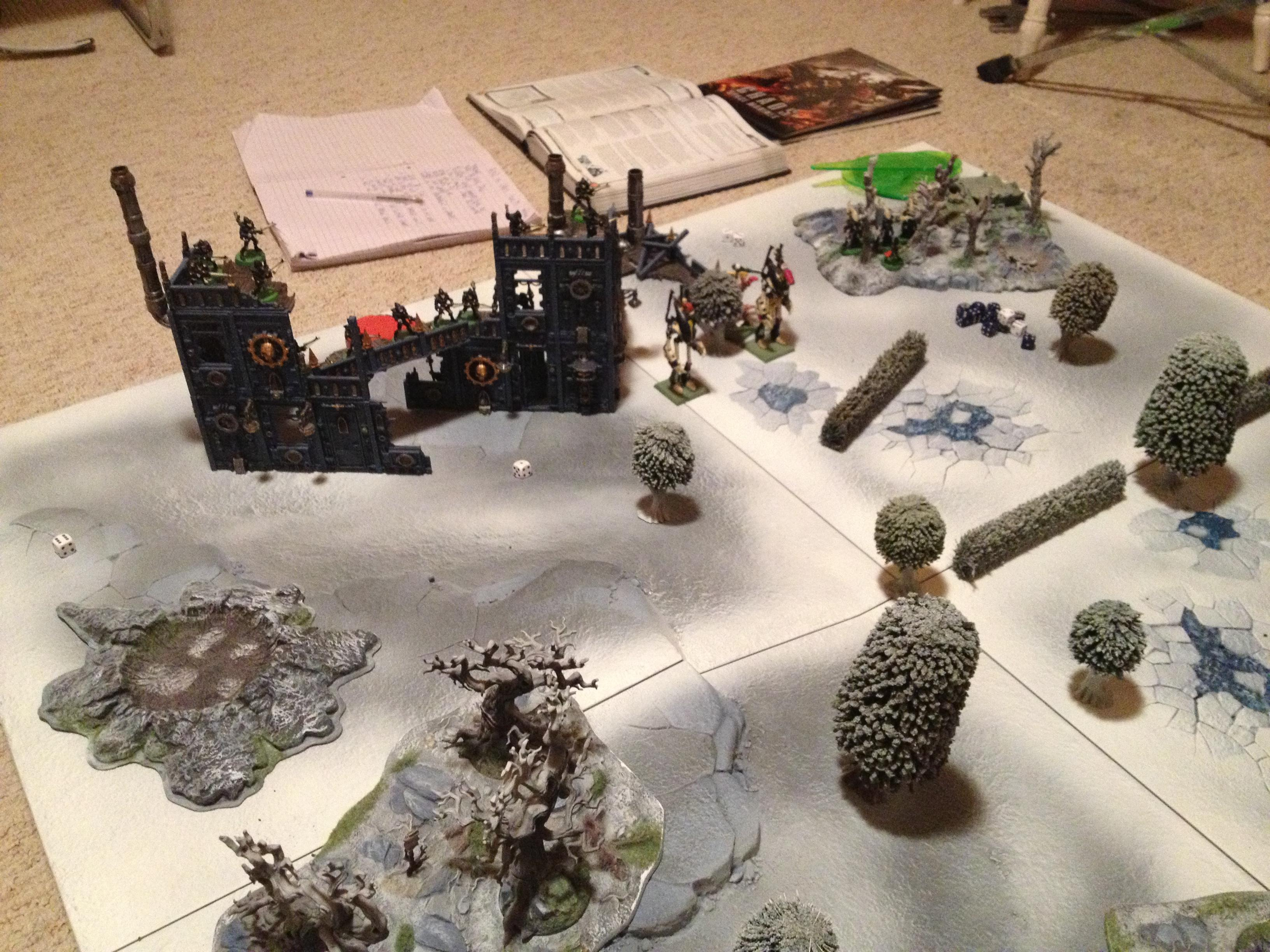 Game Board, Gw Realms Of Battle, Winter Theme