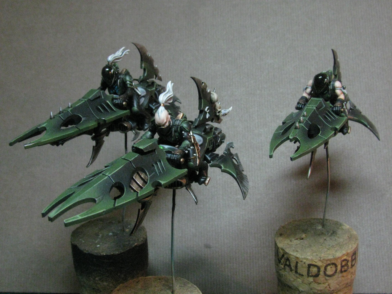 Dark Eldar, Green, Jetbike, Reavers