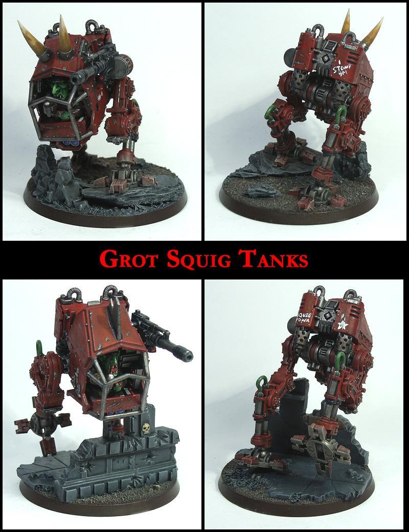 Goblins, Greenskins, Grots, Imperial Guard, Killa Kanz, Looted, Orks, Rebelz, Sentinel, Squigs, Walkers