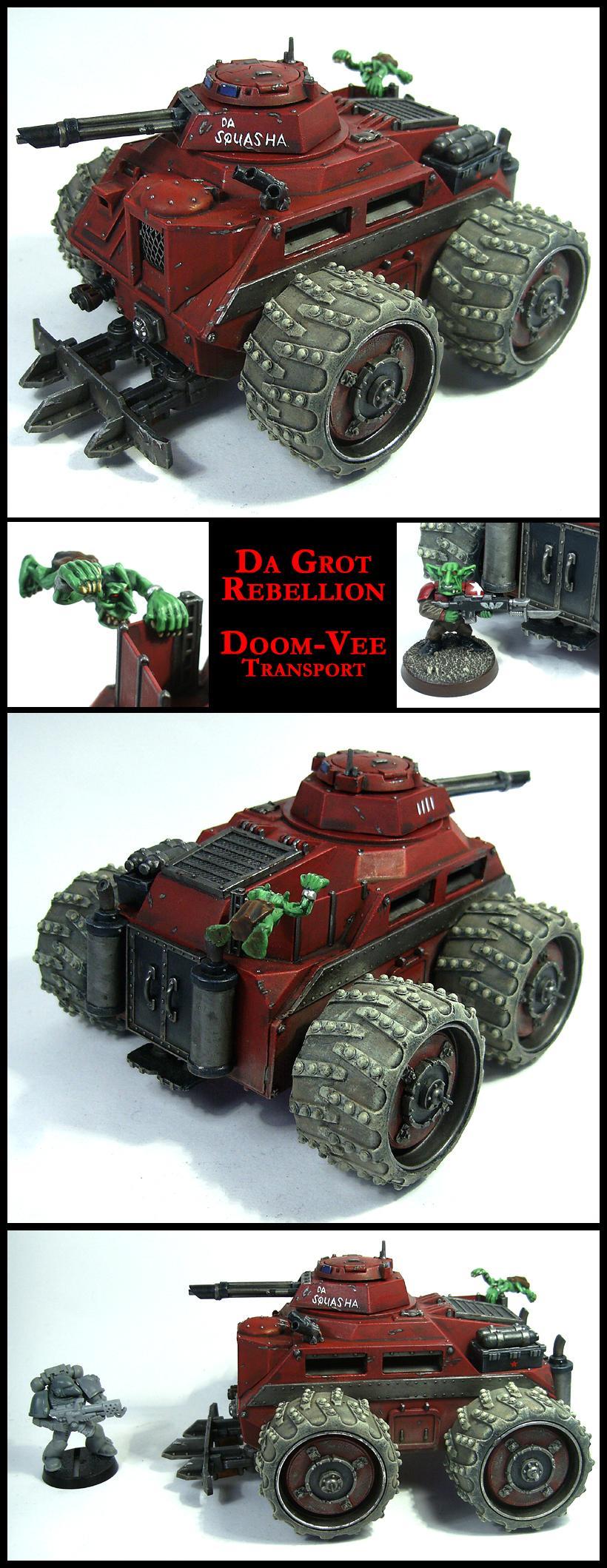 Chimera, Goblins, Greenskins, Grots, Imperial Guard, Looted, Orks, Tank, Transport, Trukk, Wagon