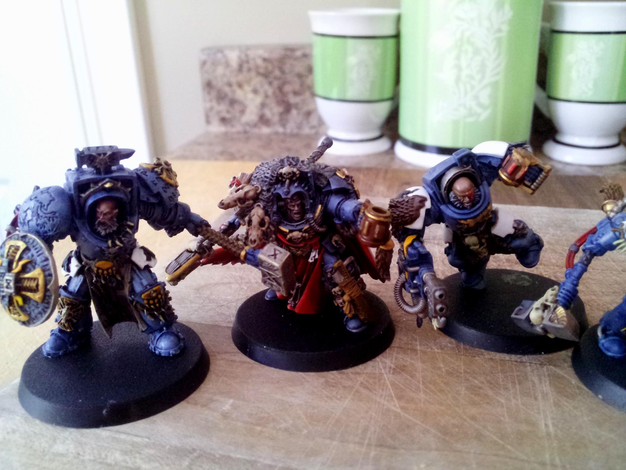 Conversion, Space Marines, Space Wolves, Terminator Armor, Vikings
