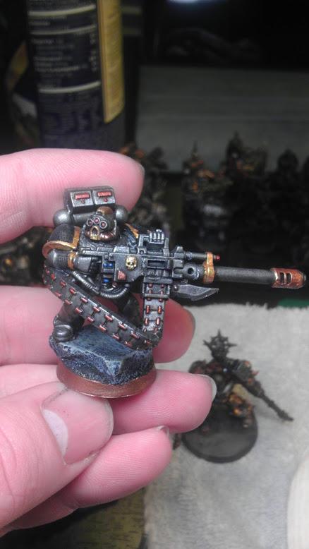 Autocannon, Chaos Space Marines, Conversion, Havoc, Iron Warroirs