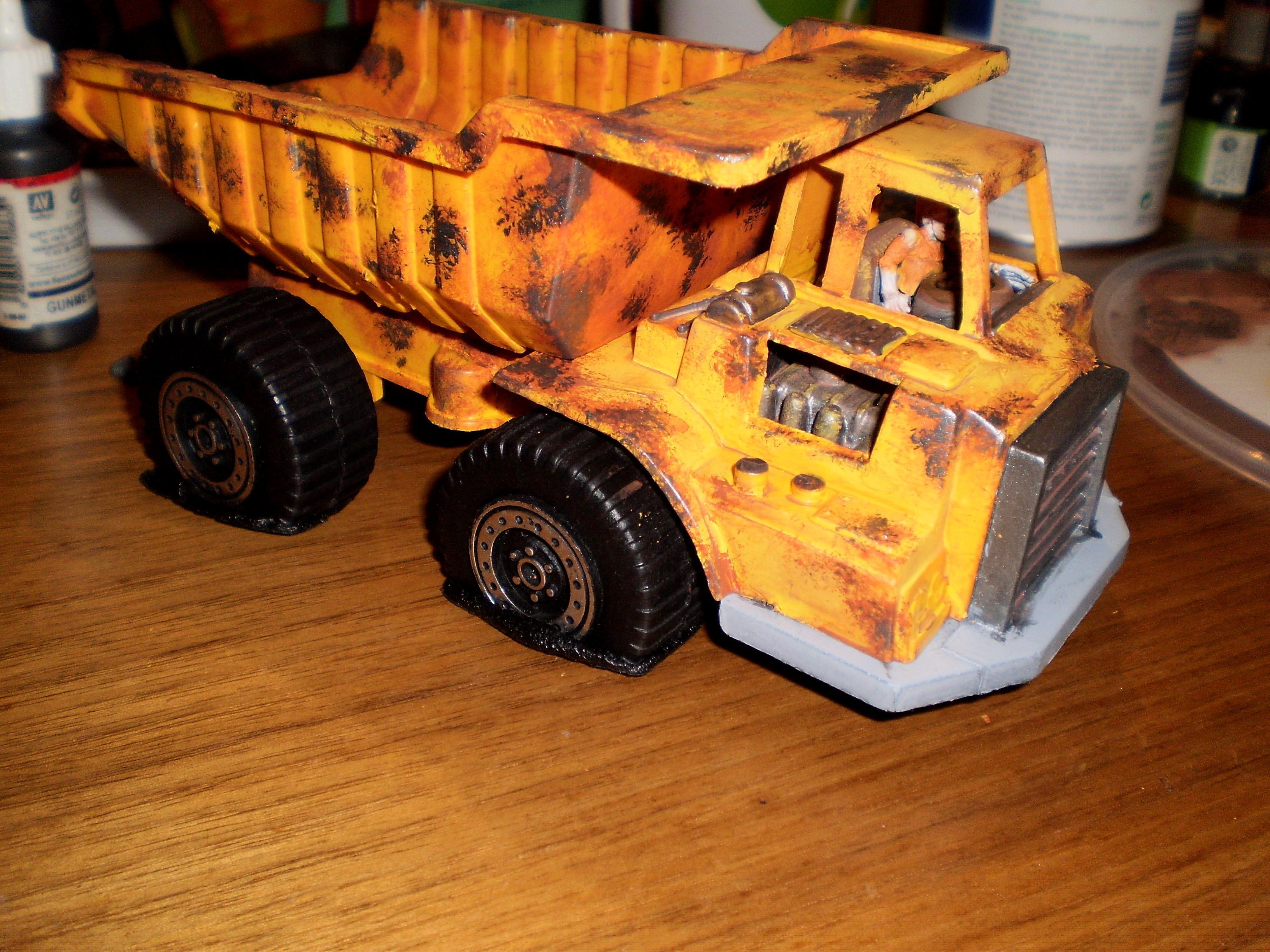 Big Truck, Necromunda, Post Apocalypse, Terrain