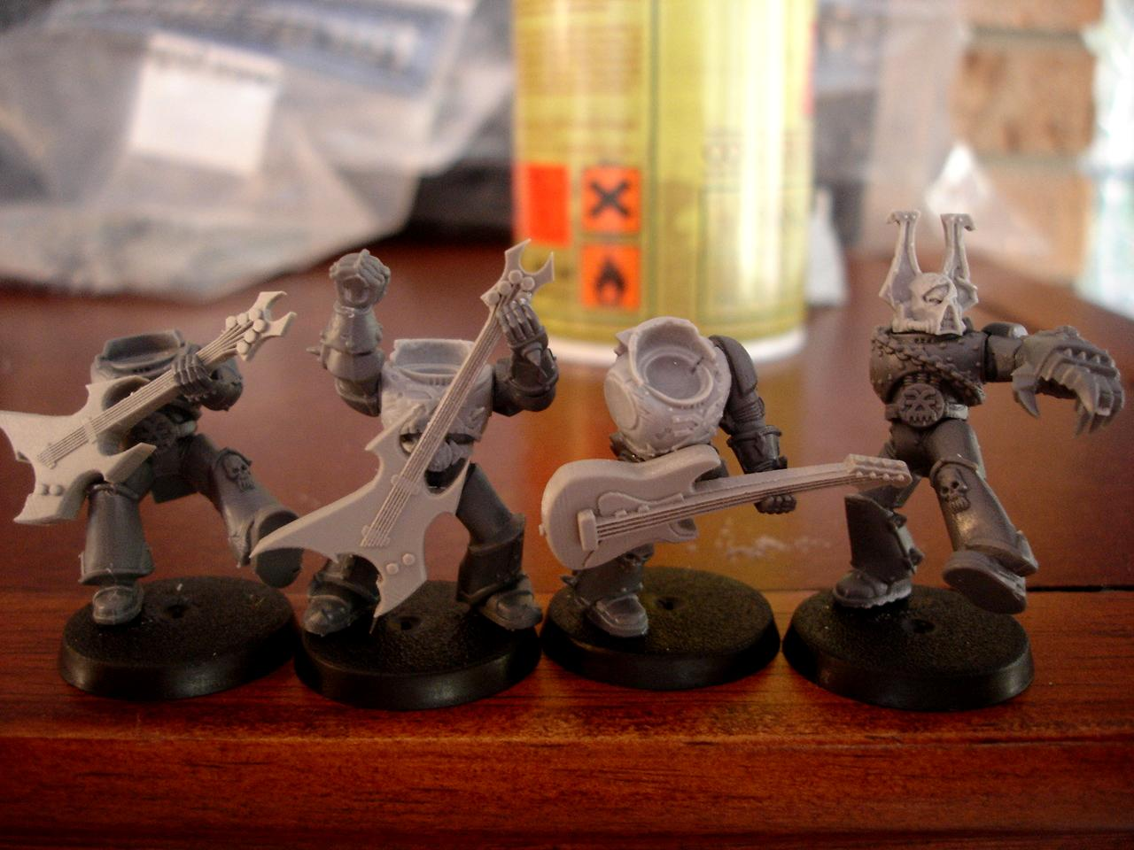 Chaos, Guitar, Khorne, Noise Marines, Space Marines, Warhammer 40,000, World Eaters