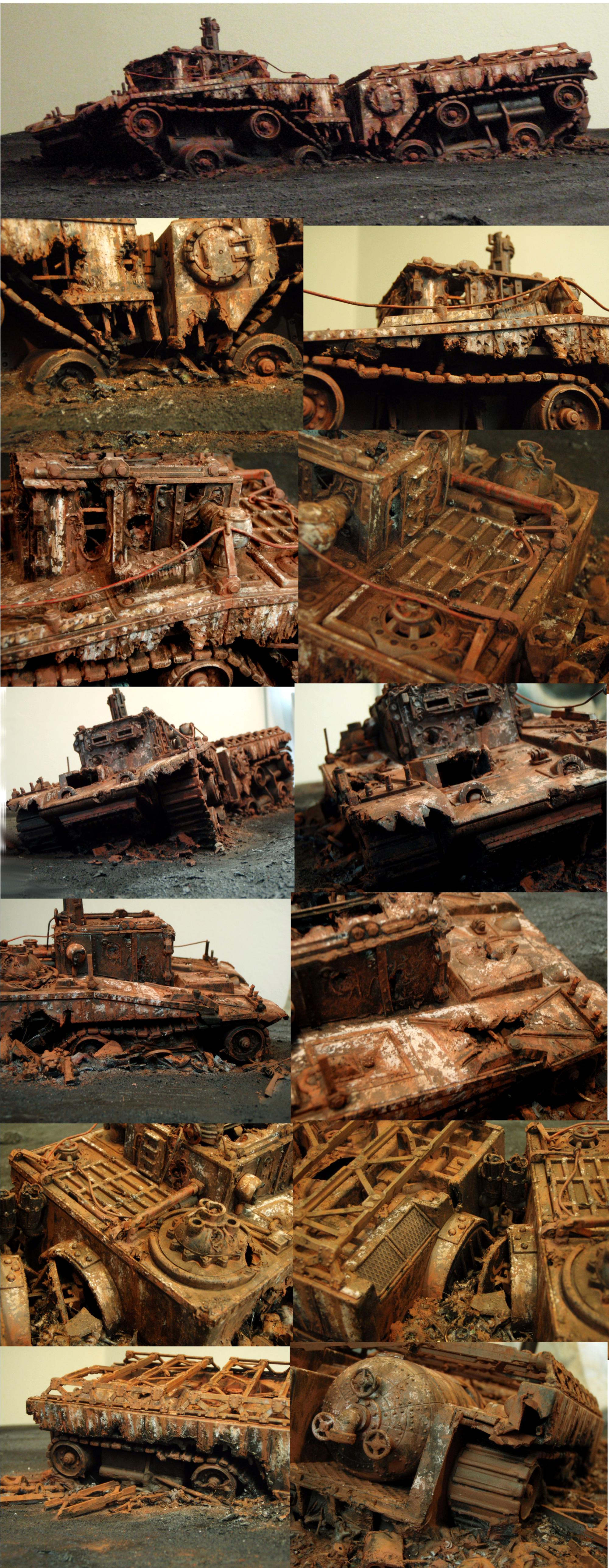 Ash Wastes, Civilian, Crawler, Rust, Truck, Weathered, Wreck