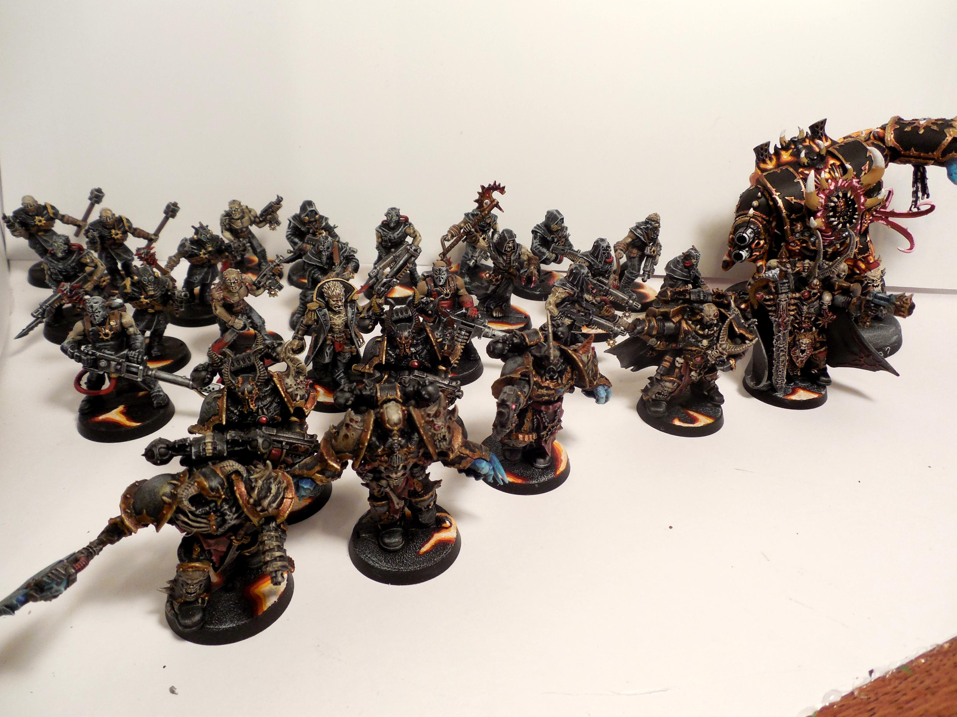 Black Legion, Chaos, Chaos Dark Vengence, Chaos Hellbrute, Chaos Space Marines, Cultists, Warhammer 40,000