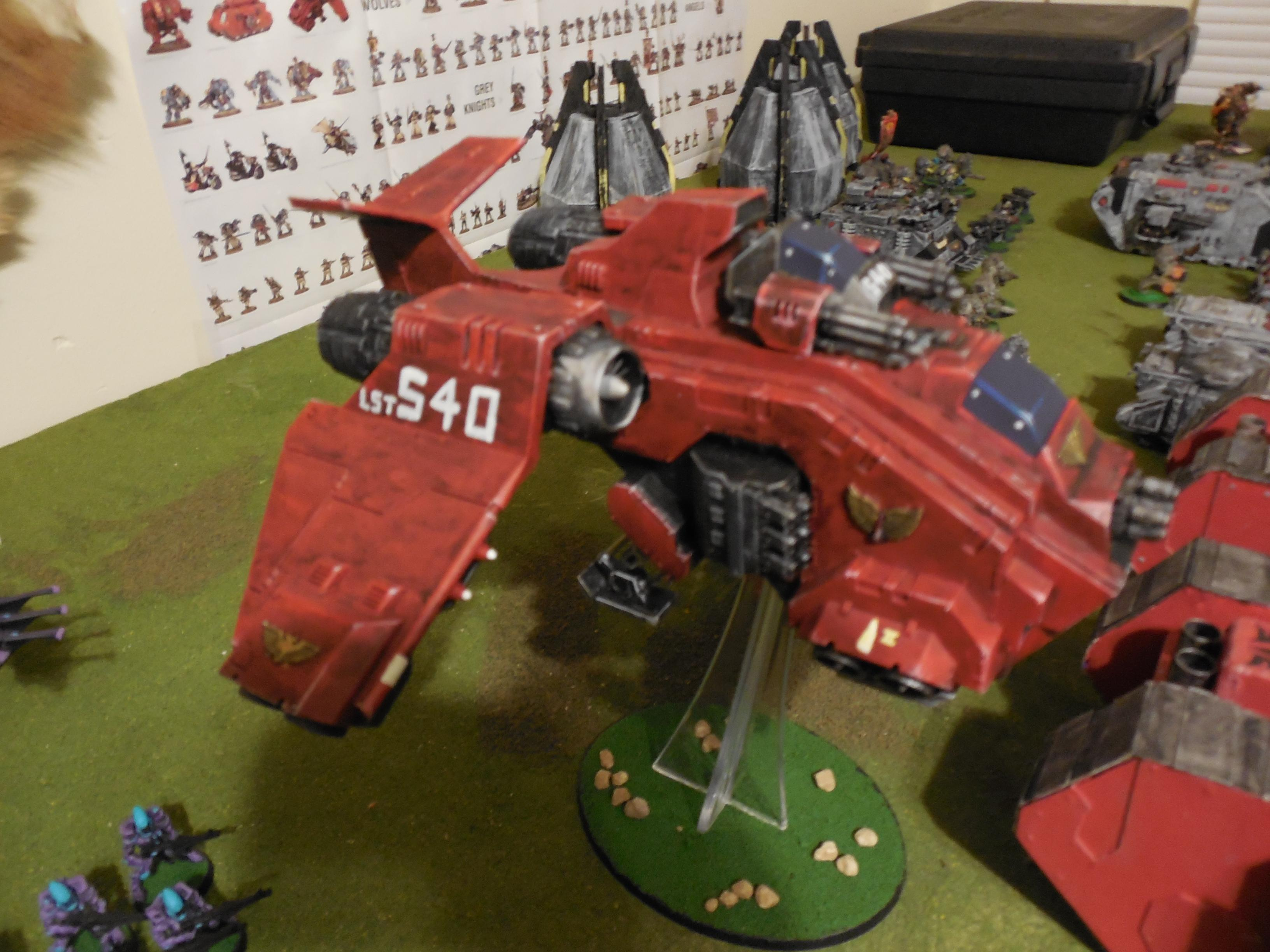 2nd Company Blood Angels, Blood Angels, Captain Aphiel, Dreadnought, Land Raider, Mephiston, Scratch Built Land Raiders, Space Marines, Storm Raven, The Blooded