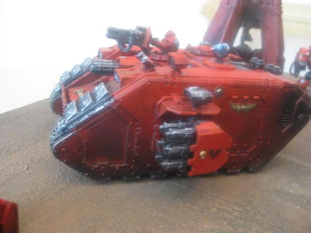 Adeptus Astartes, Blood Angels, Crusader, Heavy Support, Land Raider, Space Marines, Tank
