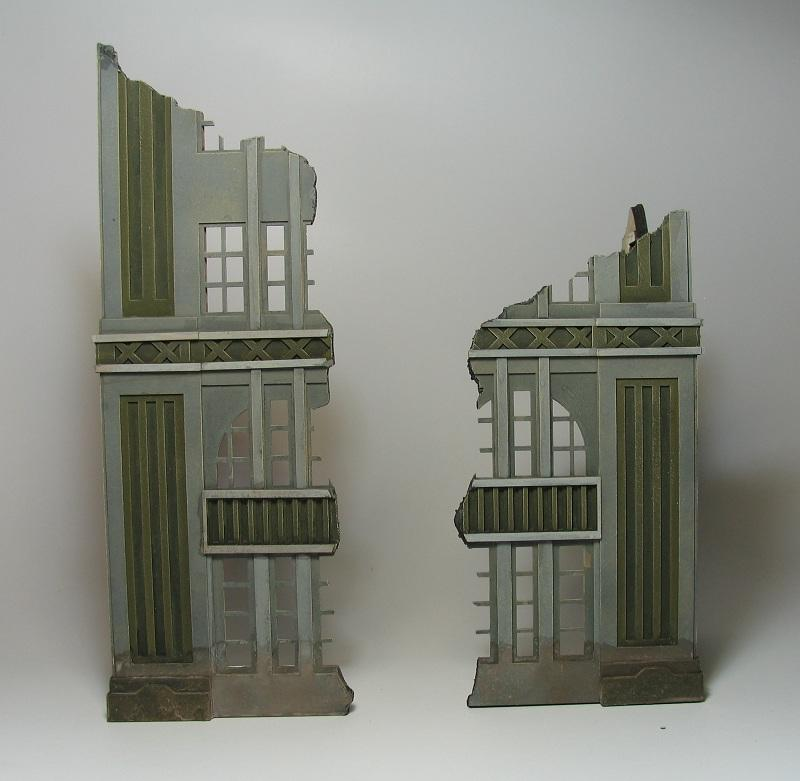 Ruins, Terrain, 3 level ruin next to 2 level ruin